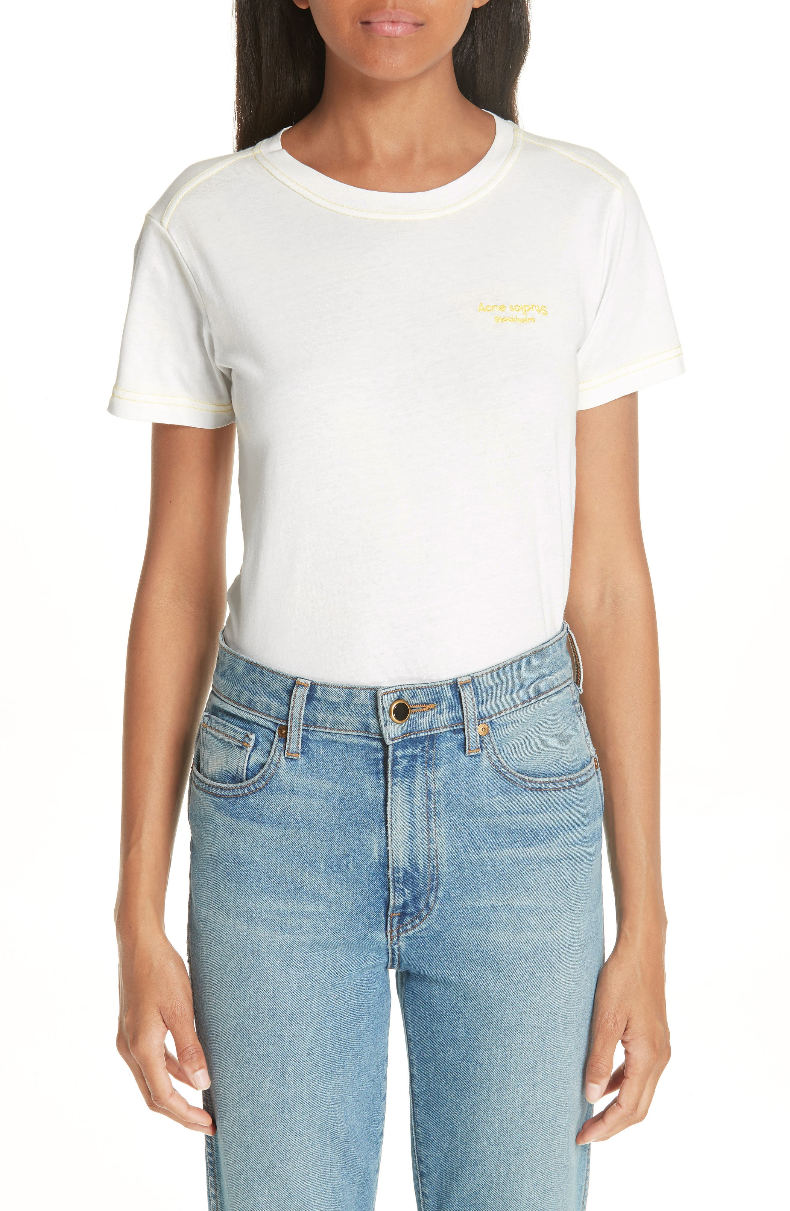 Logo Embroidered Tee,                         Main,                         color, 100