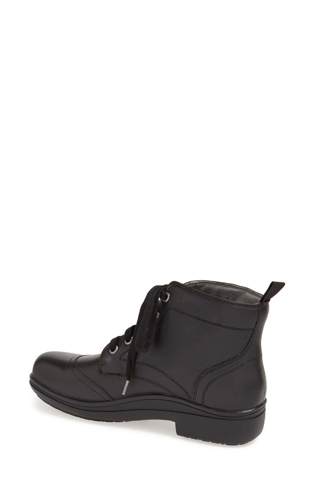 'Kylie' Leather Boot,                             Alternate thumbnail 4, color,                             001