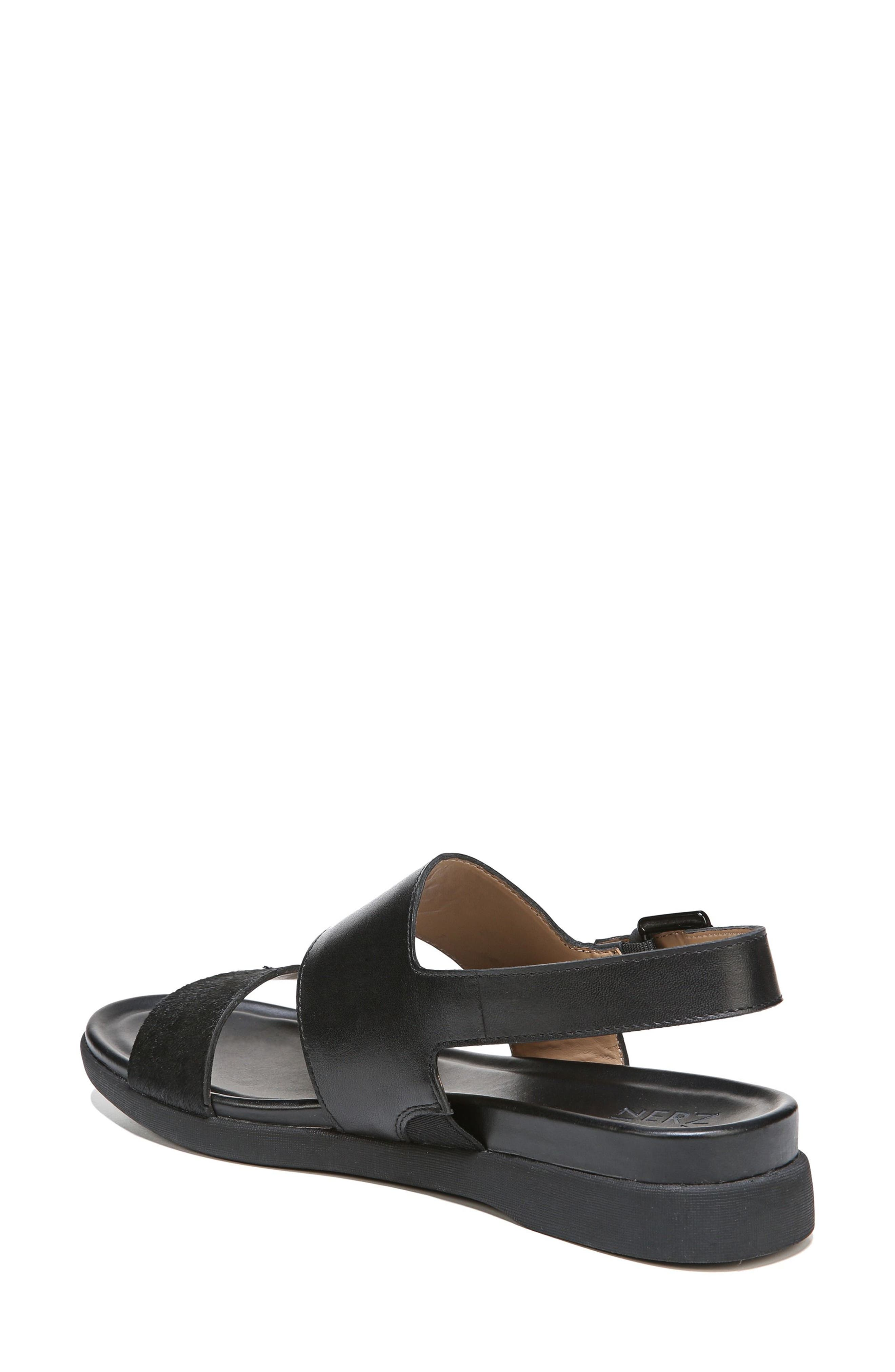 Emory Wedge Sandal,                             Alternate thumbnail 2, color,                             BLACK LEATHER