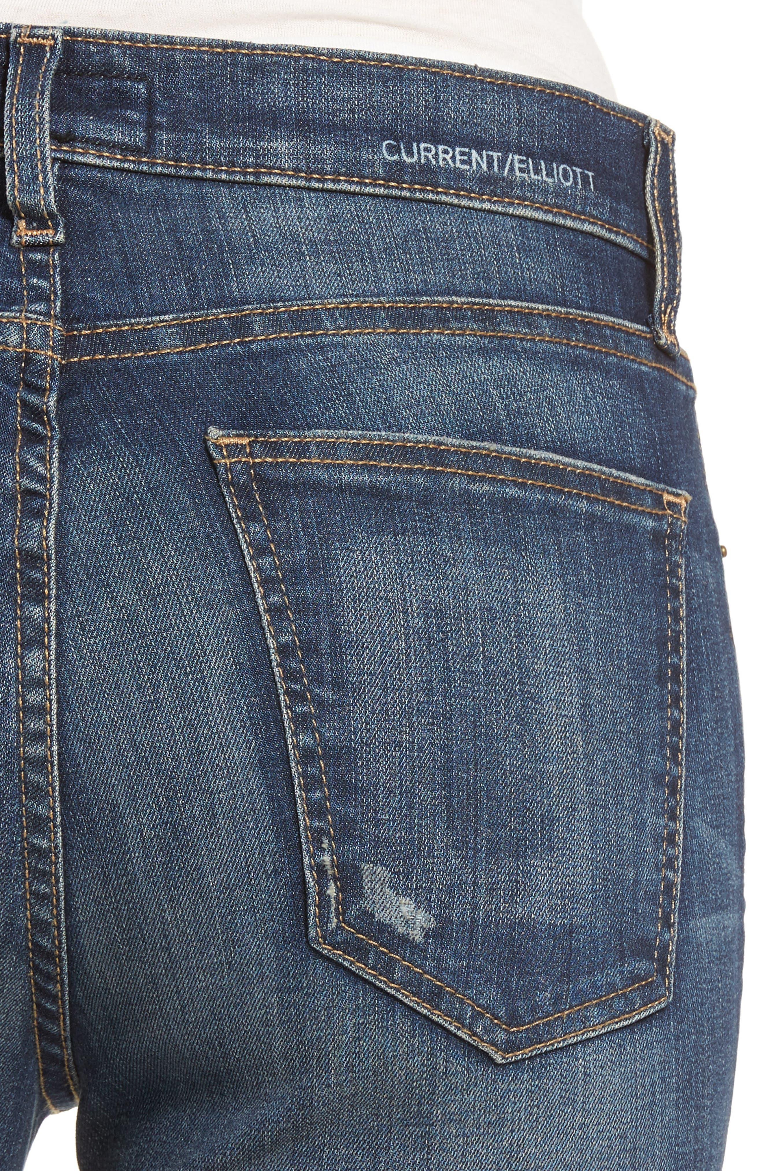 The Stiletto High Waist Skinny Jeans,                             Alternate thumbnail 4, color,                             477