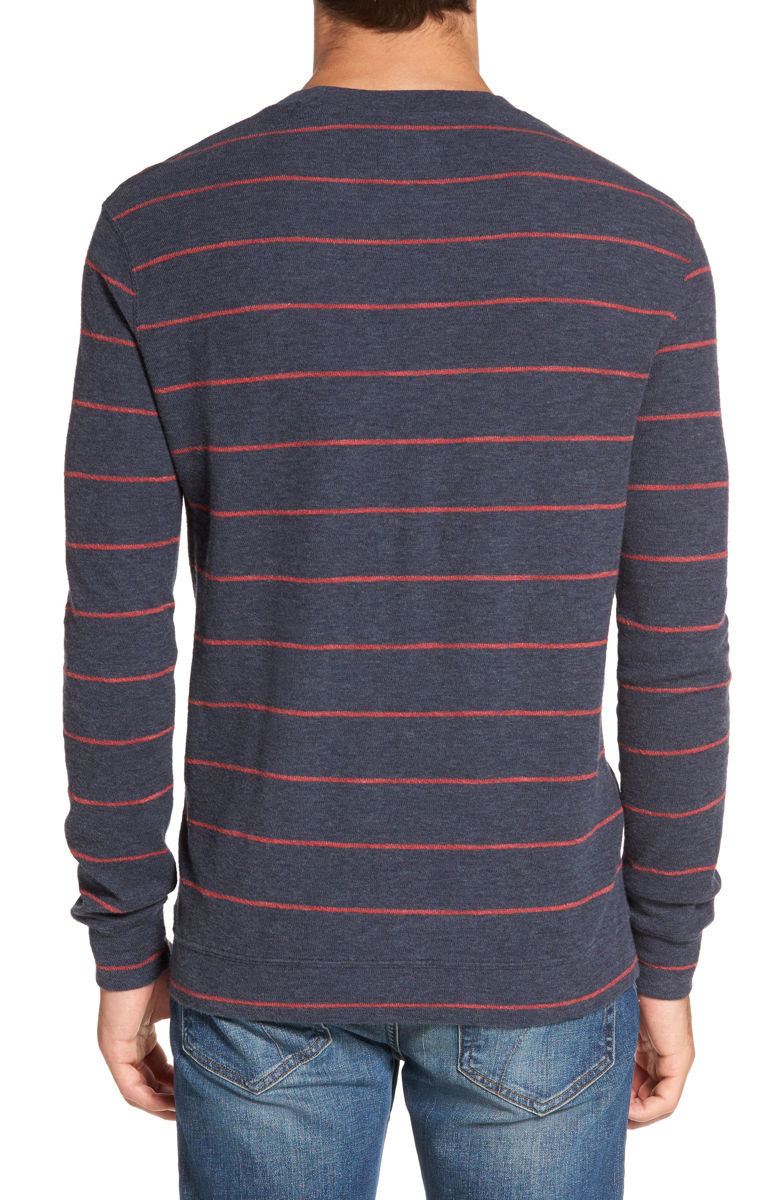 Baird Stripe Crewneck Sweatshirt,                             Alternate thumbnail 2, color,                             412