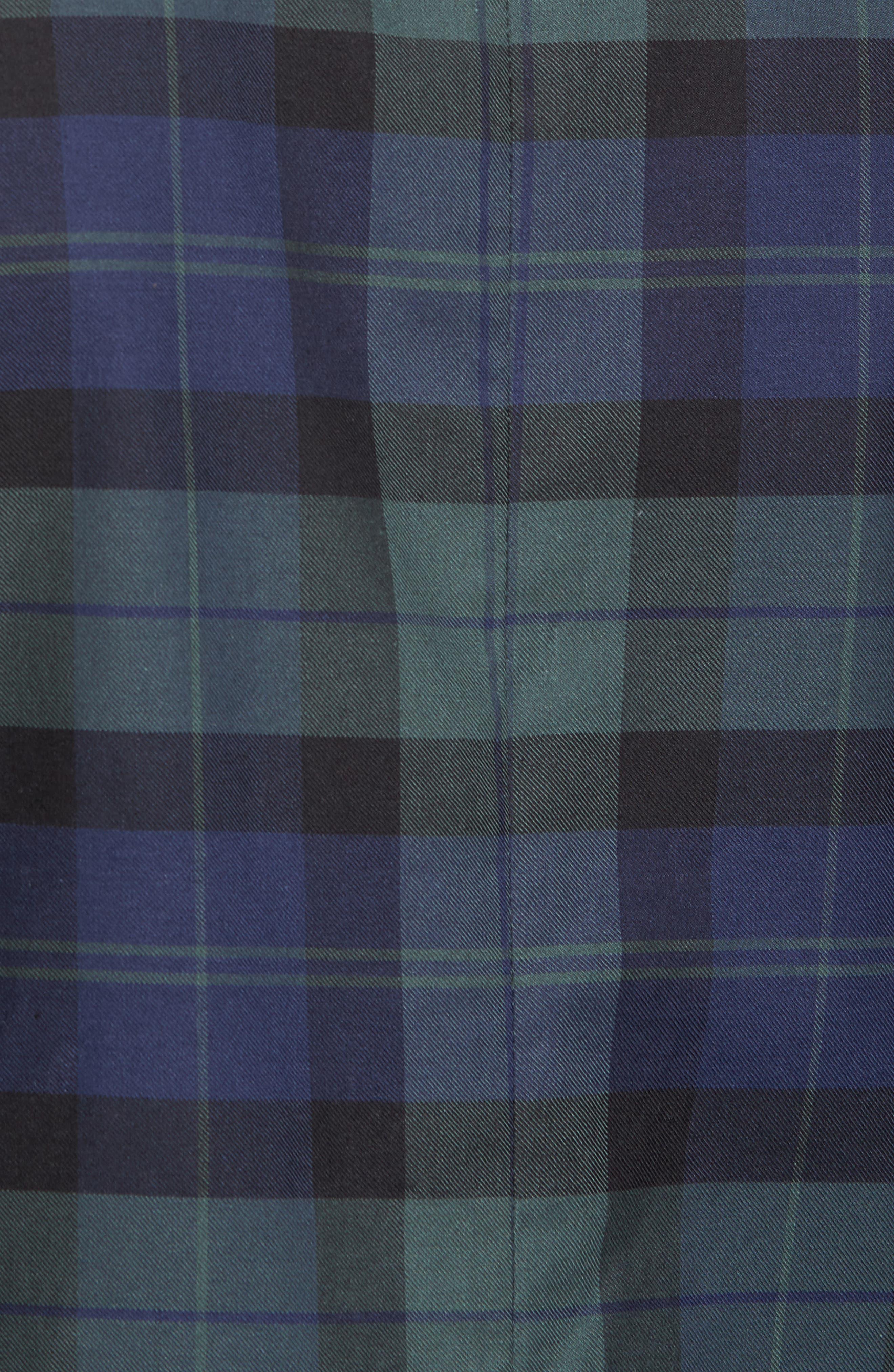 Classic Fit Blackwatch Plaid Sport Coat,                             Alternate thumbnail 6, color,                             404
