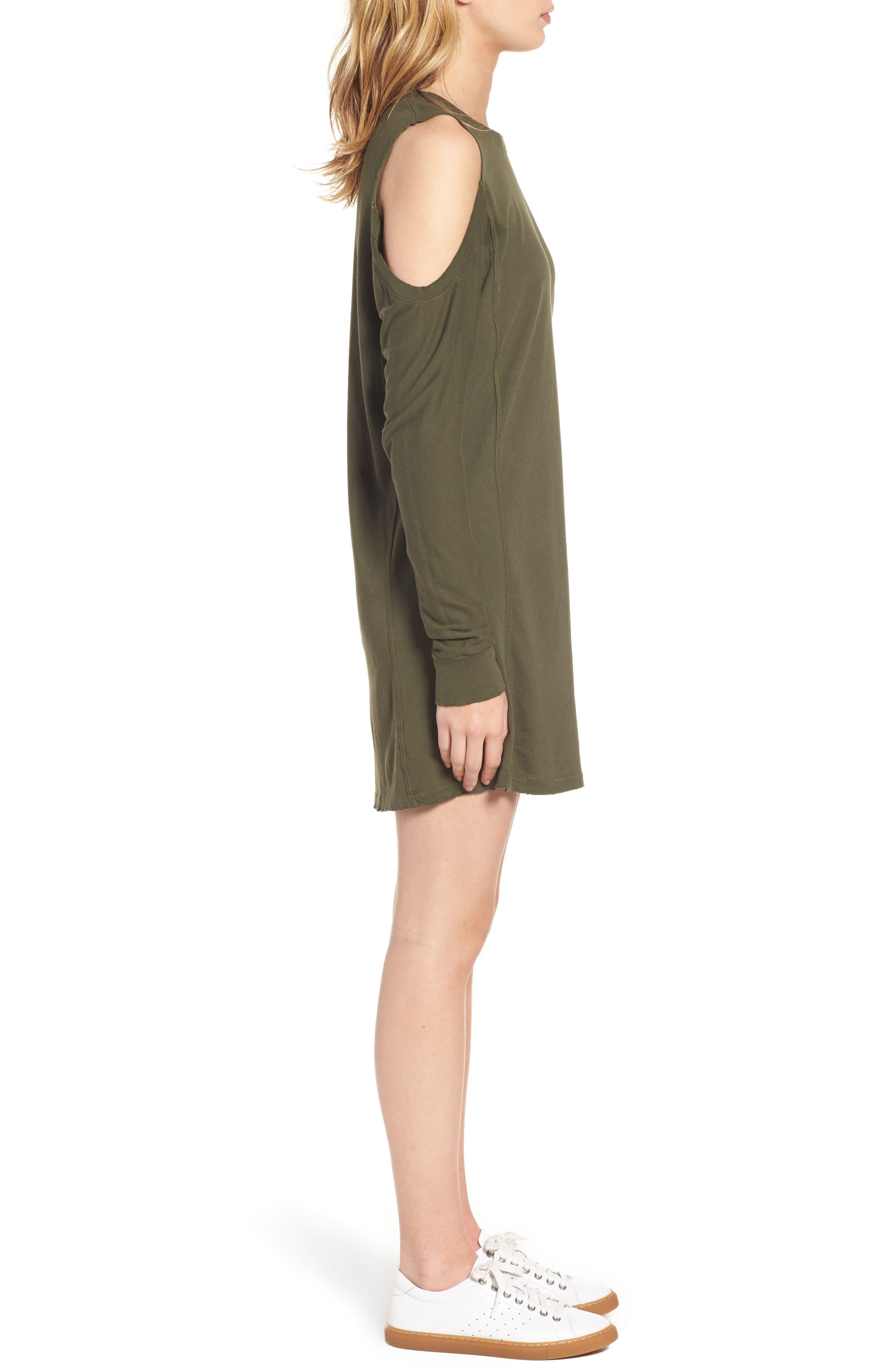 Billie Cold Shoulder Minidress,                             Alternate thumbnail 3, color,                             310