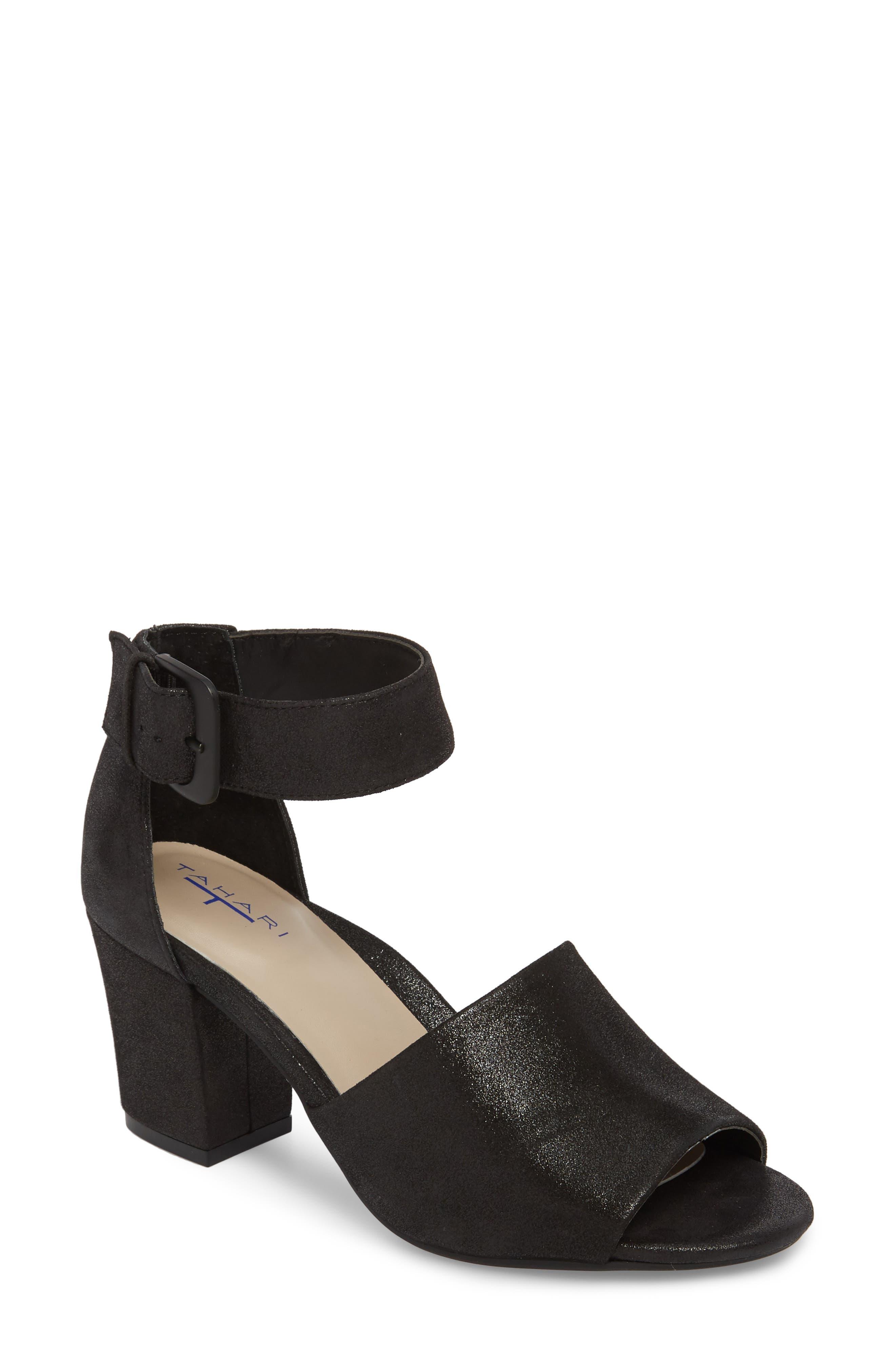 Piper Sandal,                             Main thumbnail 1, color,                             BLACK SUEDE