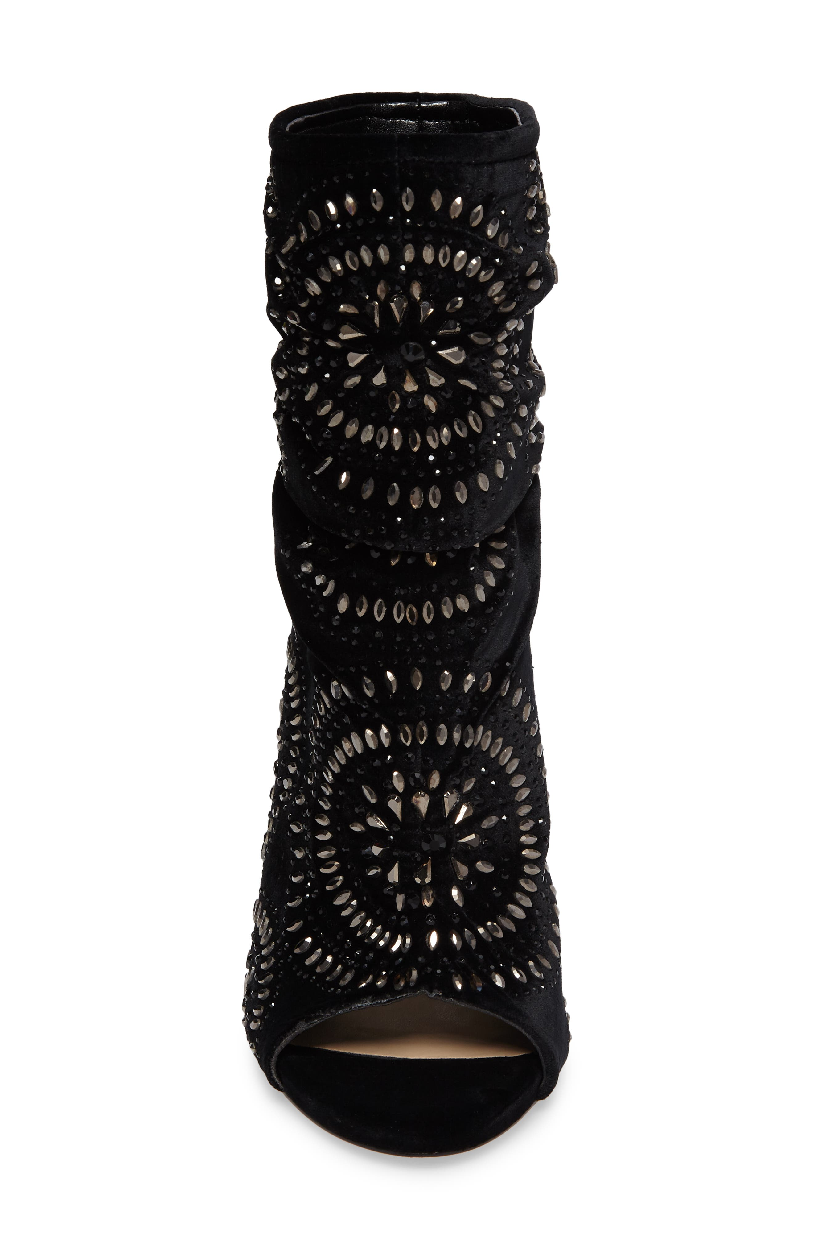 Imagine Vince Camuto Delore Embellished Slouchy Bootie,                             Alternate thumbnail 4, color,                             001