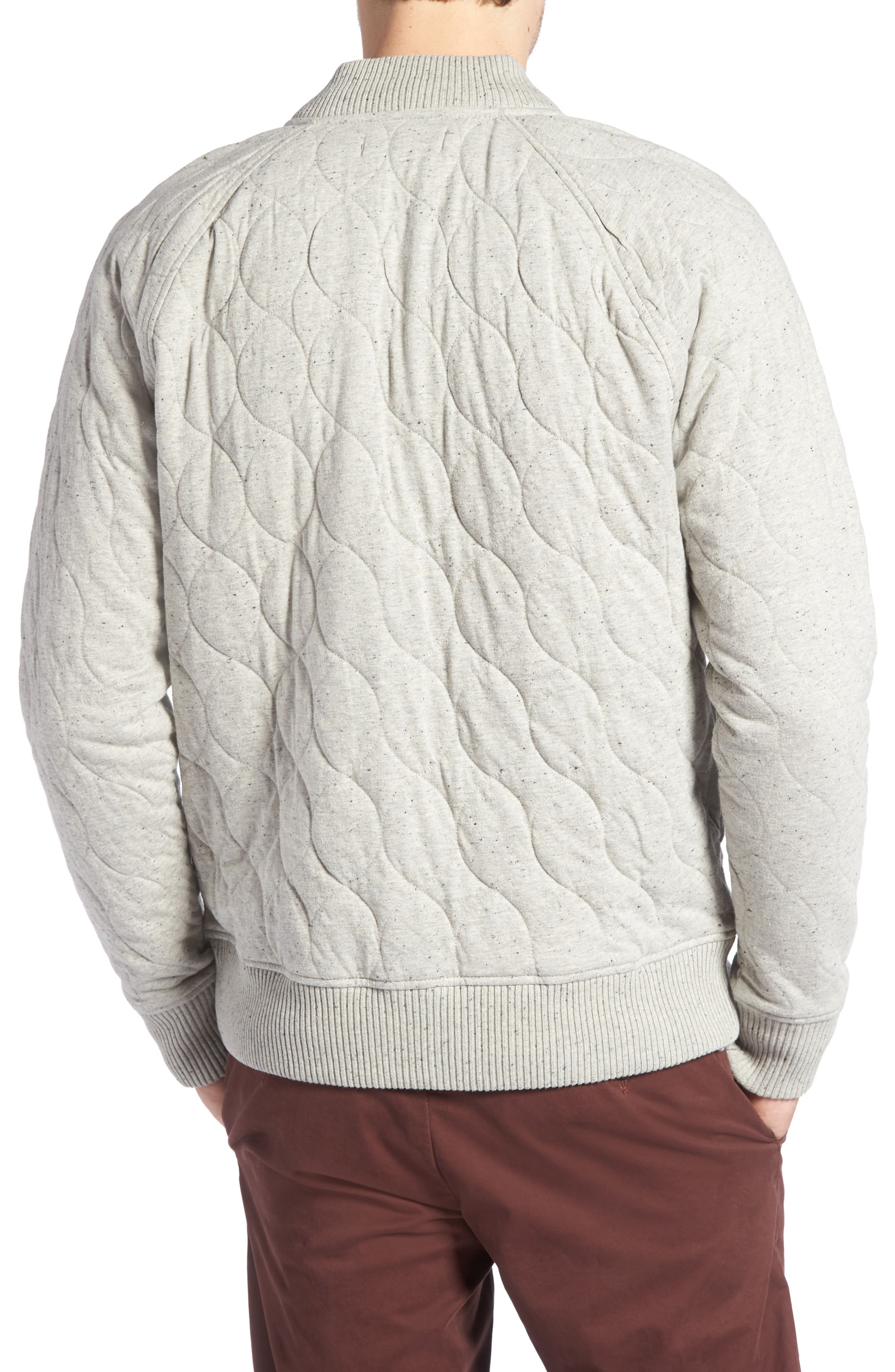 Quilted Bomber Jacket,                             Alternate thumbnail 2, color,                             GREY WEATHER NEP