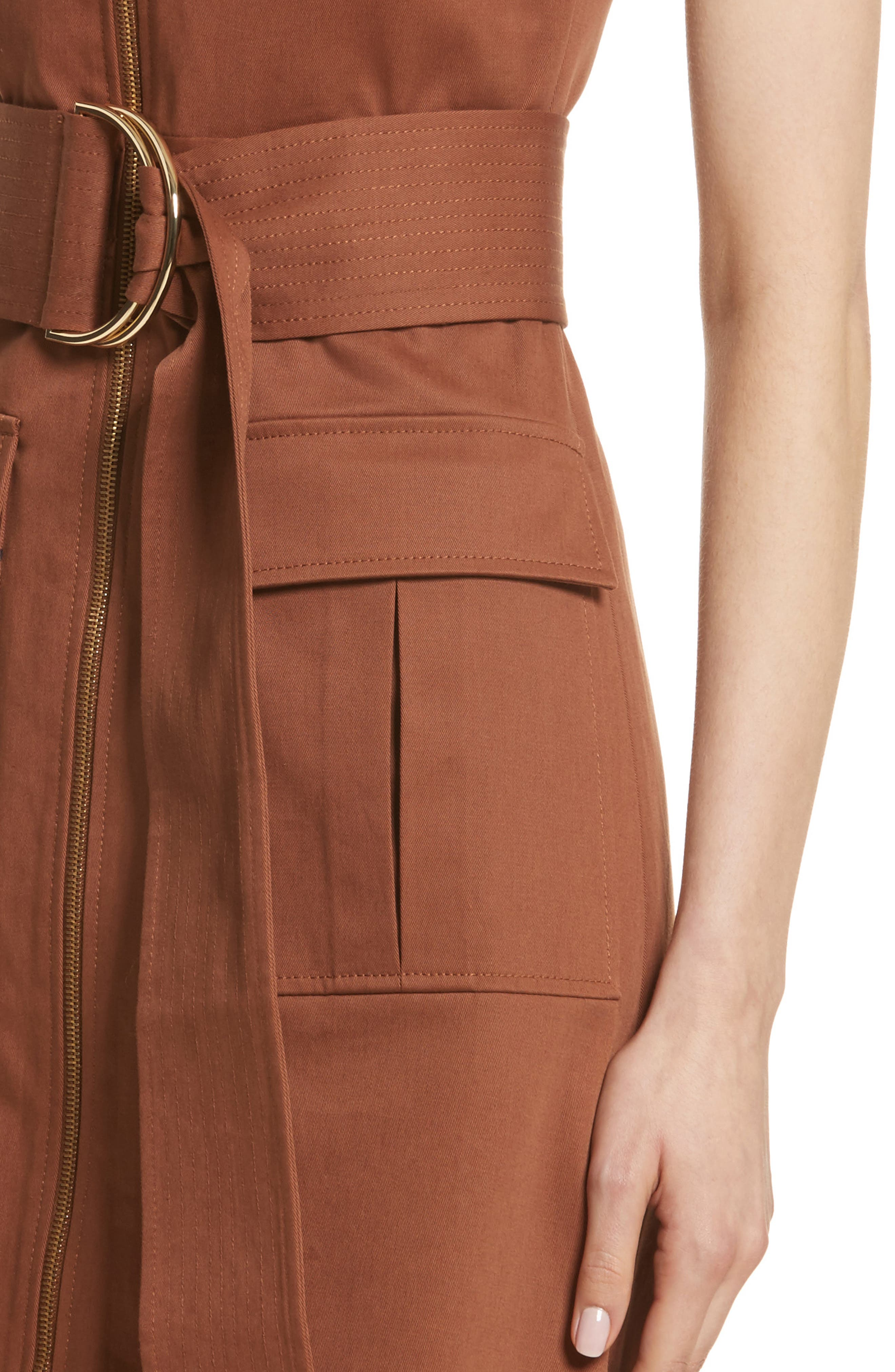 Diane von Furstenberg Zip Front Dress,                             Alternate thumbnail 4, color,                             203