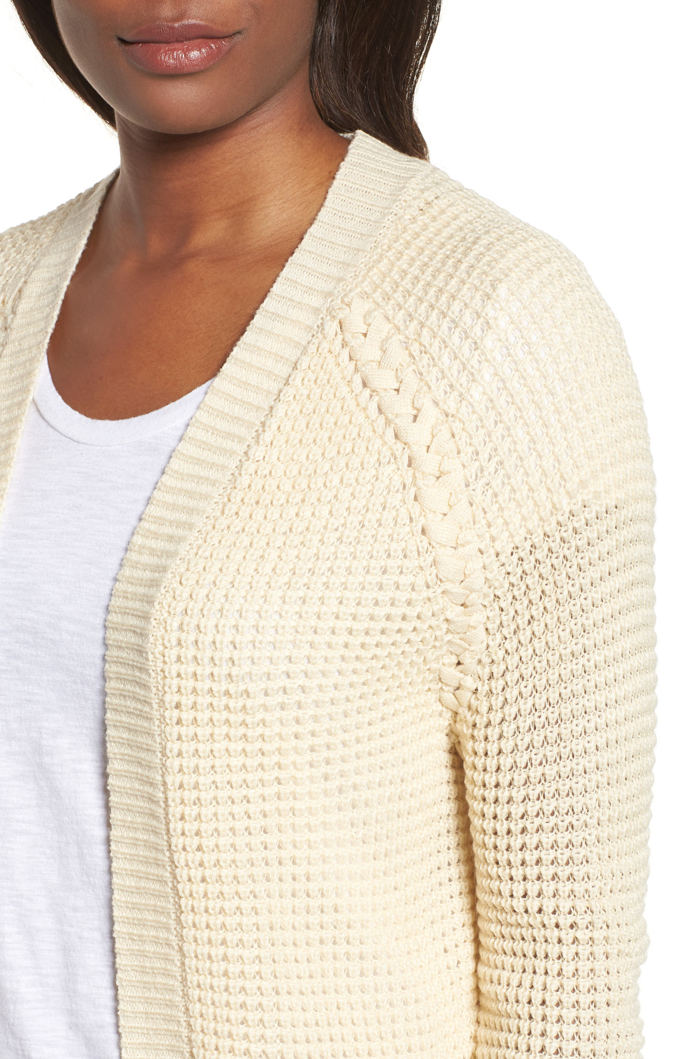 Braided Shoulder Cardigan,                             Alternate thumbnail 4, color,                             270