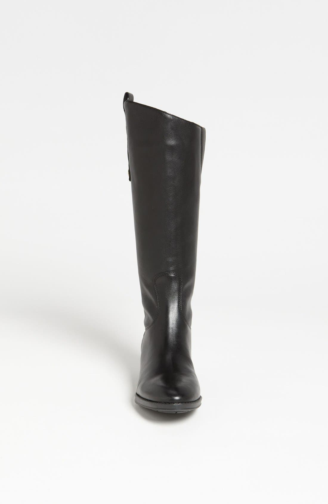 Penny Boot,                             Alternate thumbnail 5, color,                             BLACK WIDE CALF