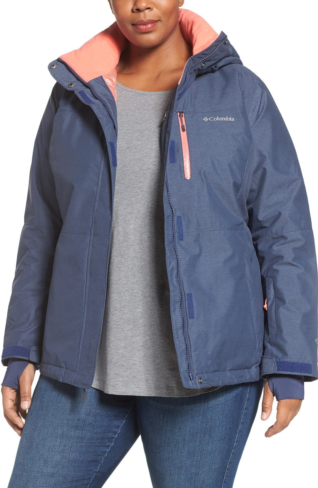 Alpine Action Waterproof Omni-Heat<sup>®</sup> Hooded Jacket,                             Main thumbnail 3, color,