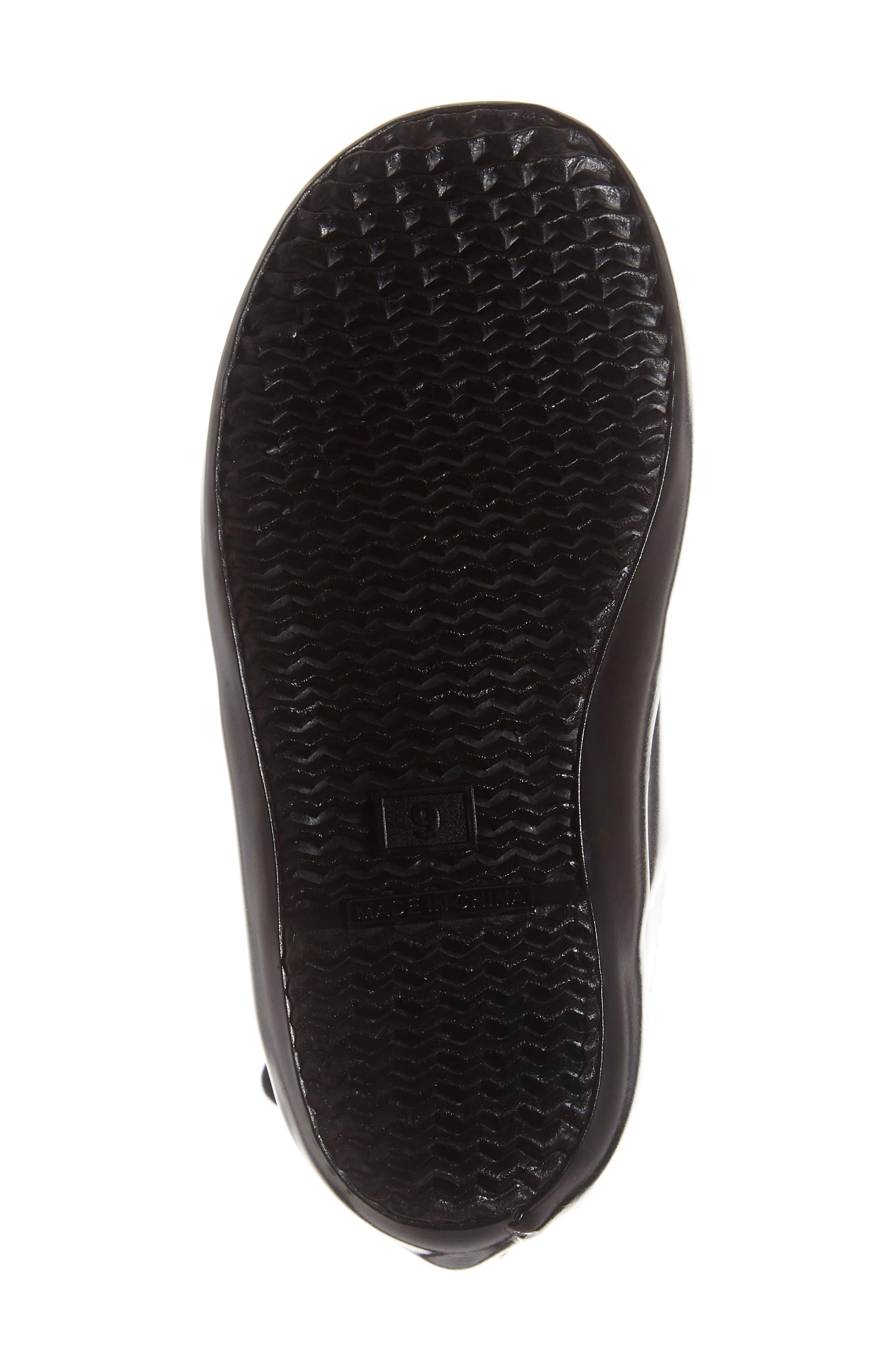 Original Flat Sole Gloss Rain Boot,                             Alternate thumbnail 6, color,                             BLACK