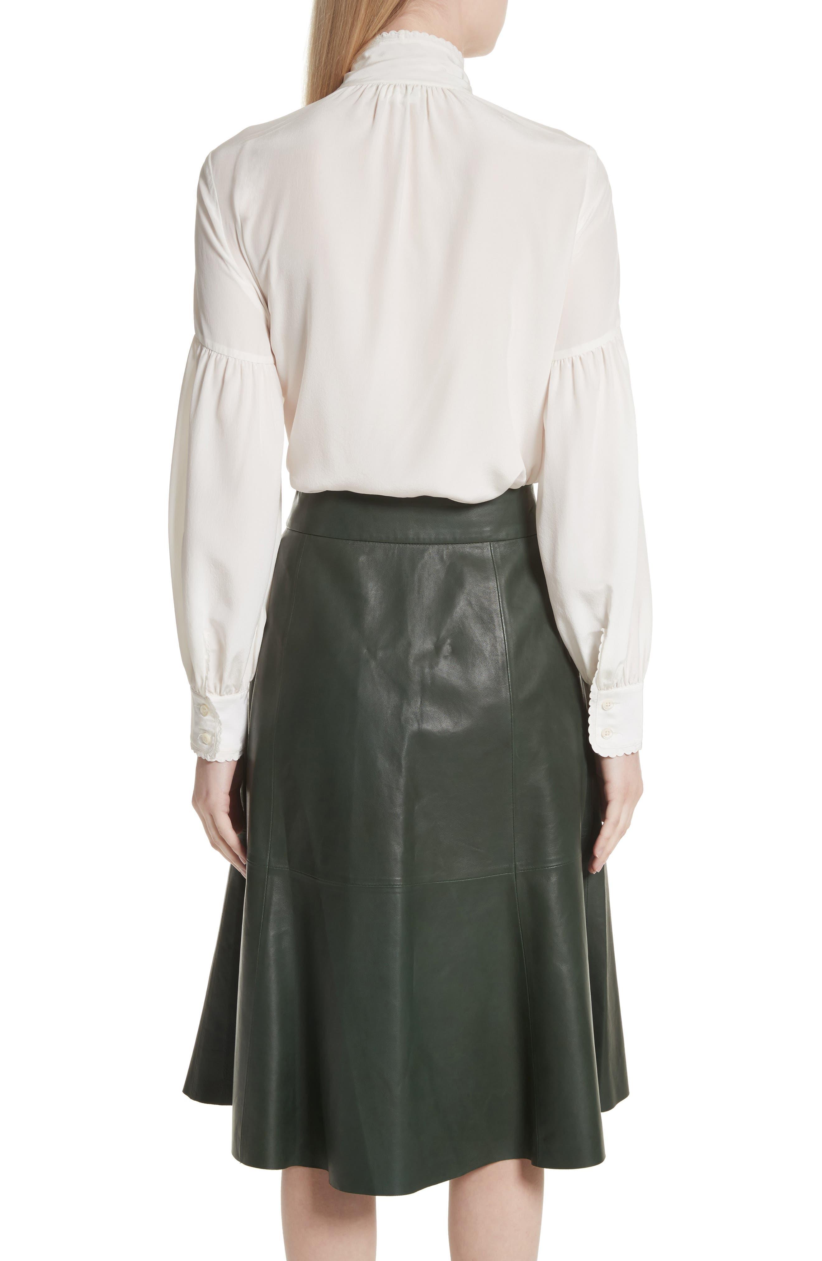 myrah tie neck silk blouse,                             Alternate thumbnail 2, color,                             902