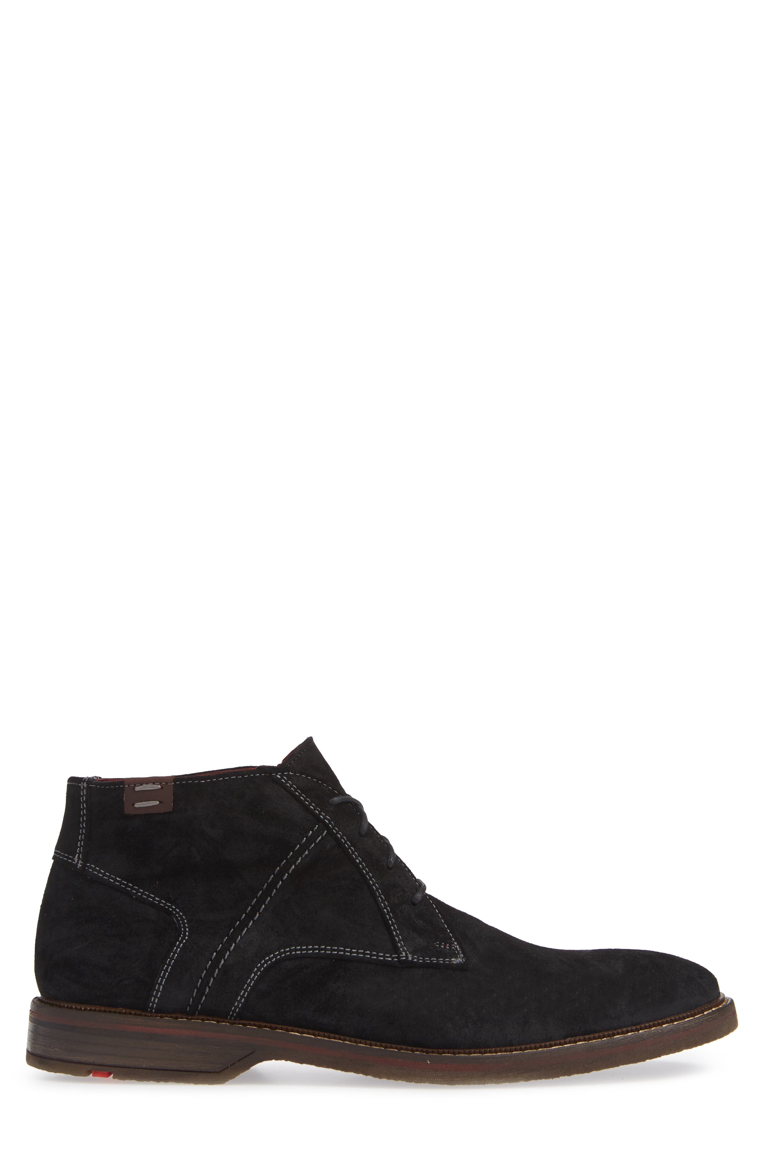 Dalbert Chukka Boot,                             Alternate thumbnail 3, color,                             BLACK/ KENIA SUEDE