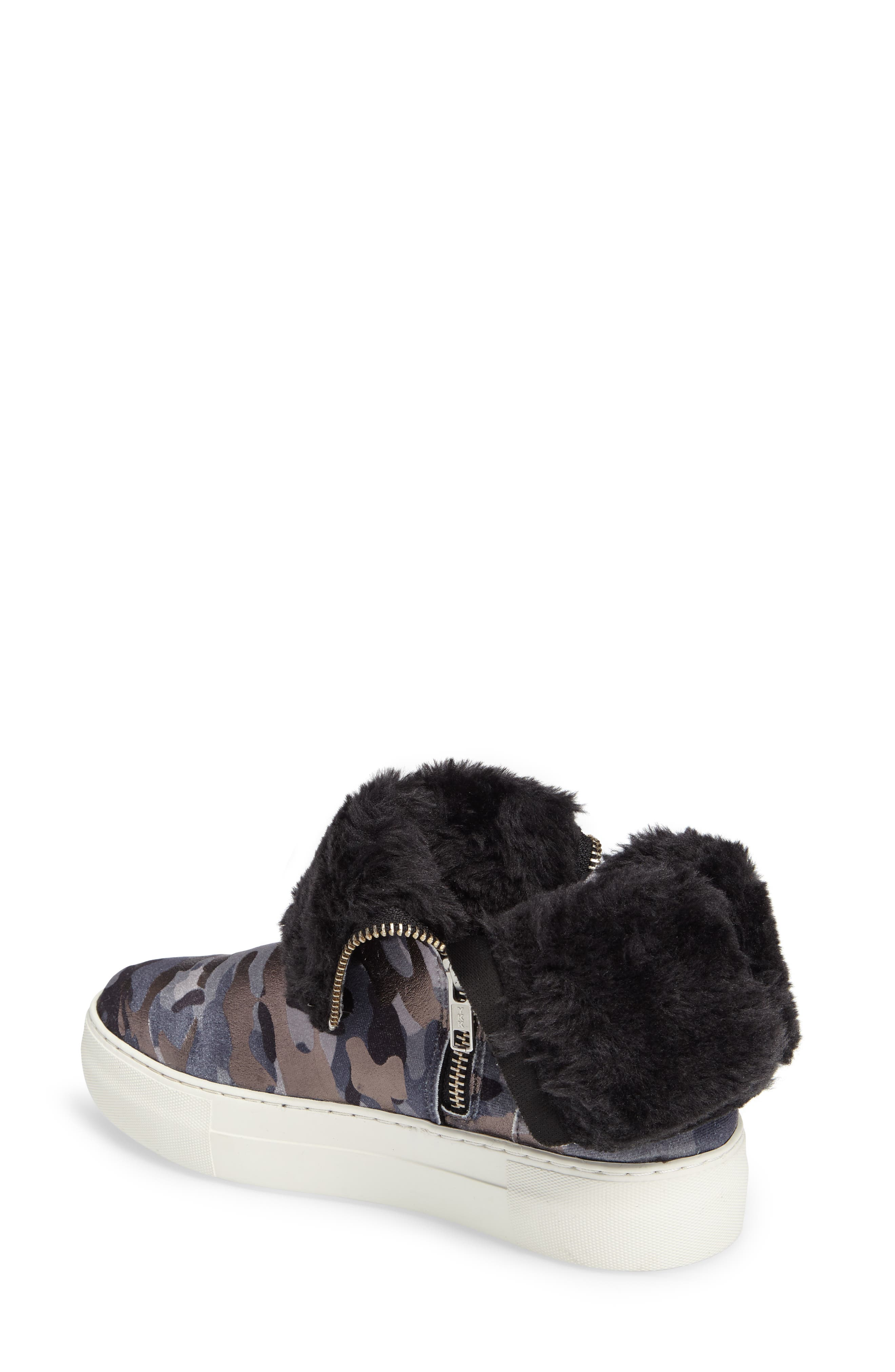 Allie Faux Fur Lined Platform Boot,                             Alternate thumbnail 3, color,                             020
