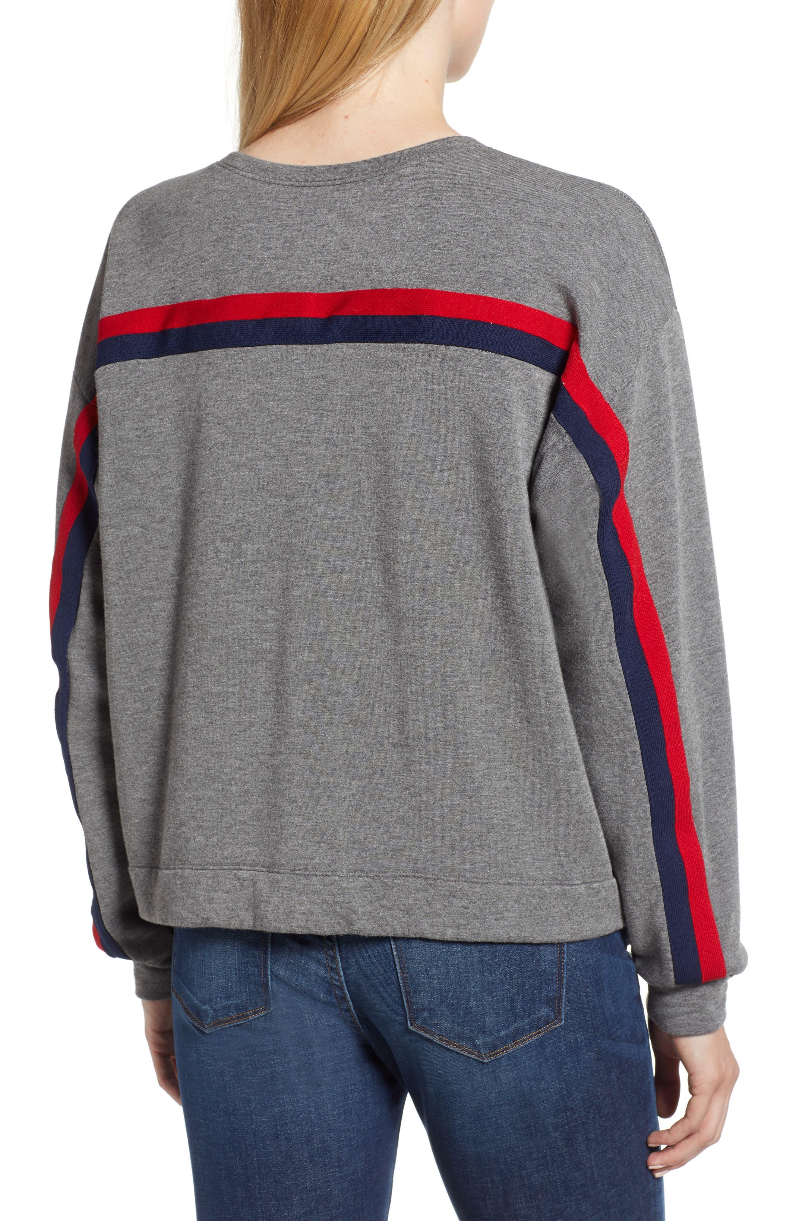 Athleisure Stripe Detail Sweatshirt,                             Alternate thumbnail 2, color,                             024