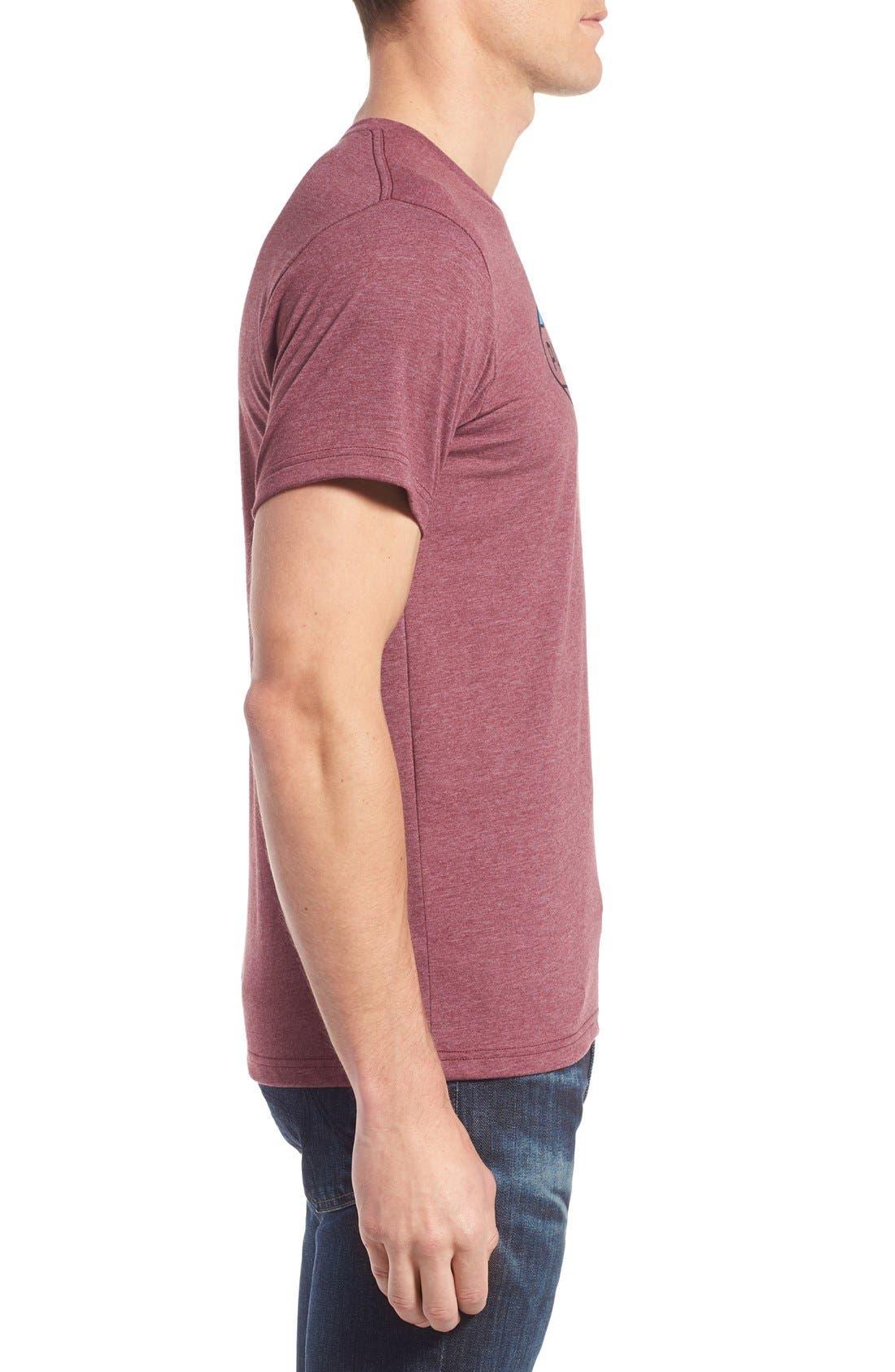 'Fitz Roy Crest' Slim Fit Organic Cotton Blend T-Shirt,                             Alternate thumbnail 15, color,