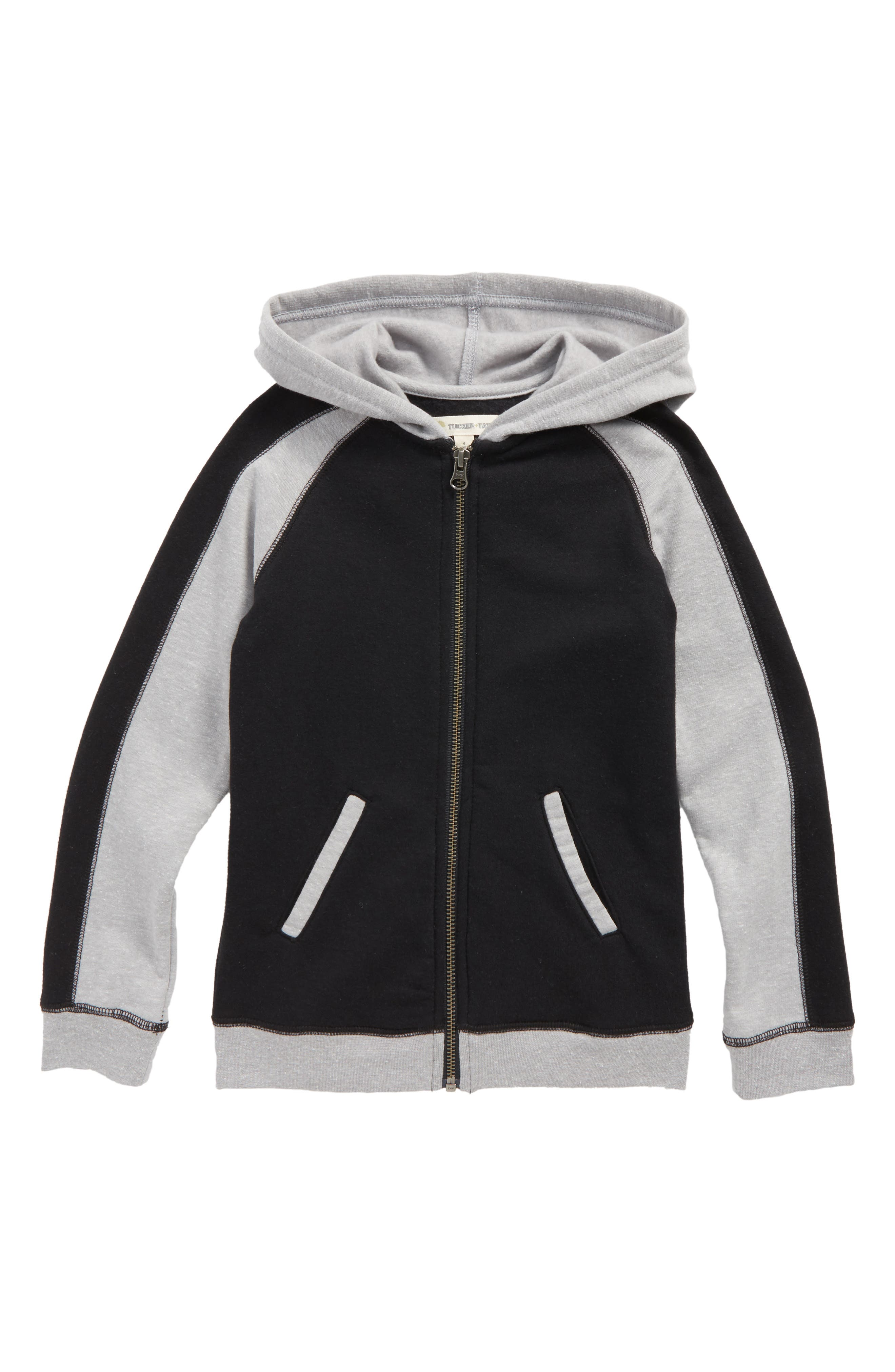 Colorblocked Zip Hoodie,                             Main thumbnail 1, color,