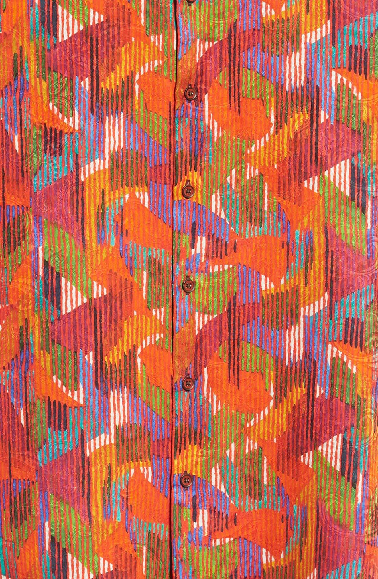 ROBERT GRAHAM,                             Gallagher Classic Fit Silk Blend Sport Shirt,                             Alternate thumbnail 6, color,                             600