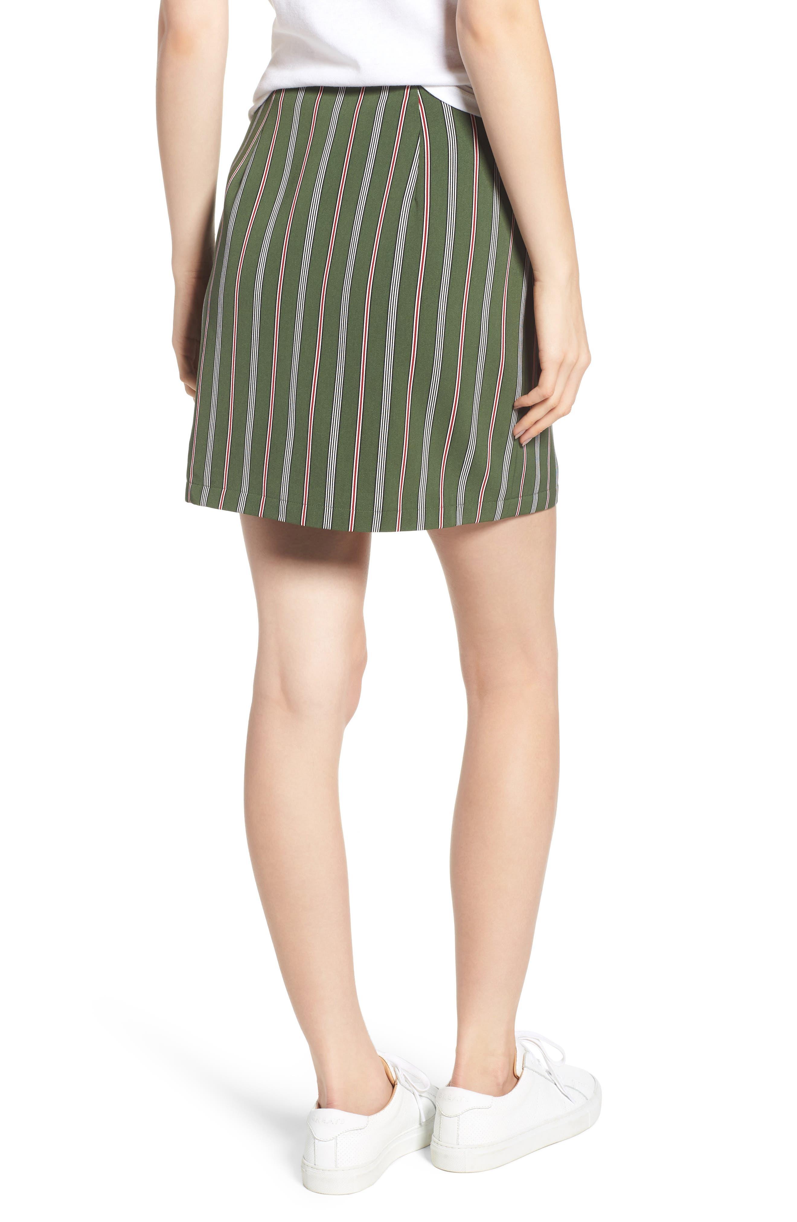 Axial Stripe Miniskirt,                             Alternate thumbnail 2, color,                             300