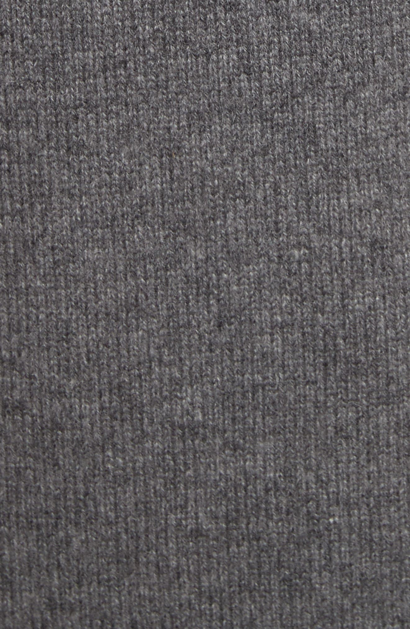 Cashmere Mini Cape Turtleneck Sweater,                             Alternate thumbnail 5, color,                             020