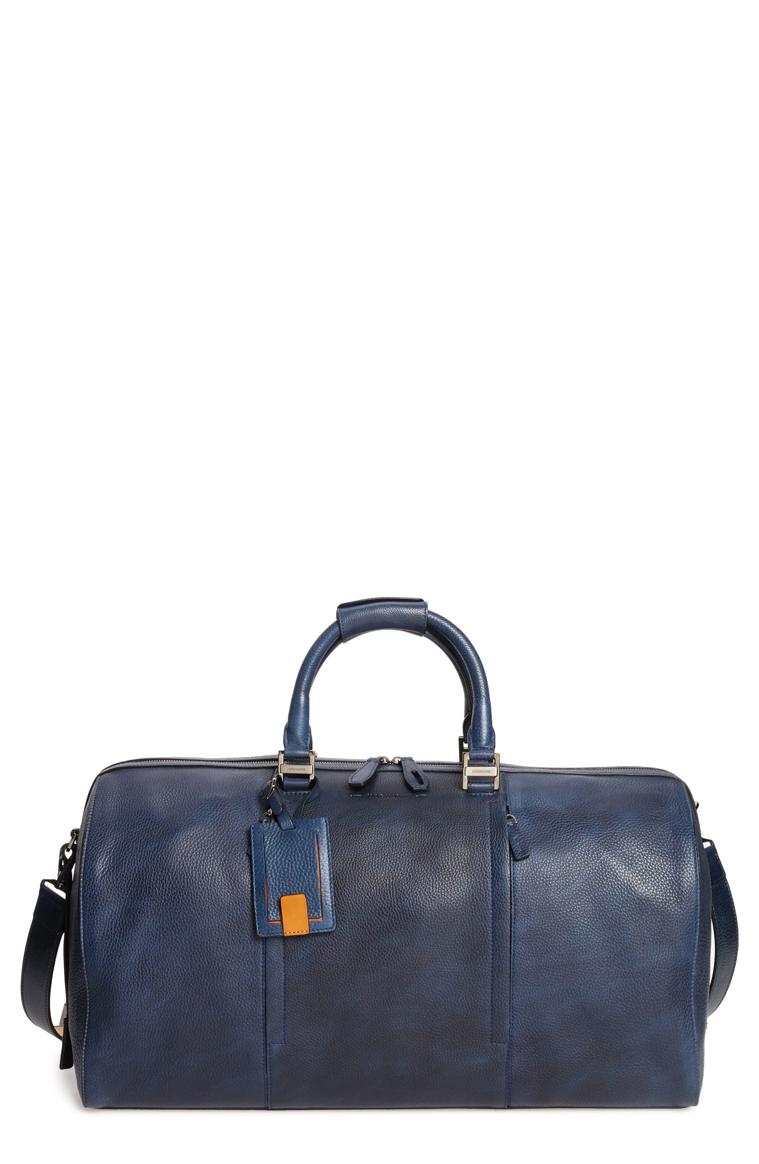 Traveler Leather Duffel Bag,                             Main thumbnail 4, color,