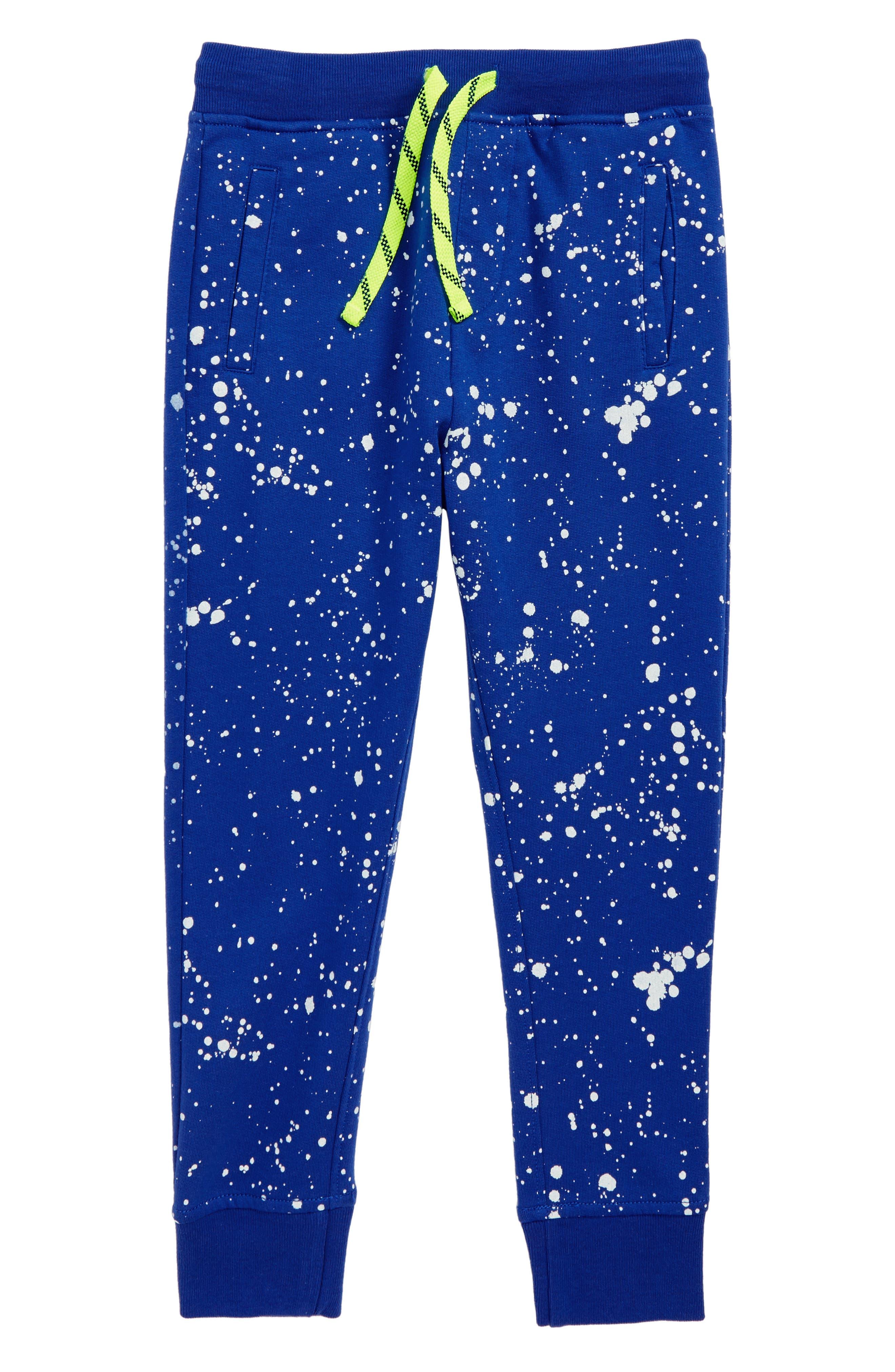 Toddler Boys Crewcuts By Jcrew Splatter Paint Sweatpants Size 3T  Blue