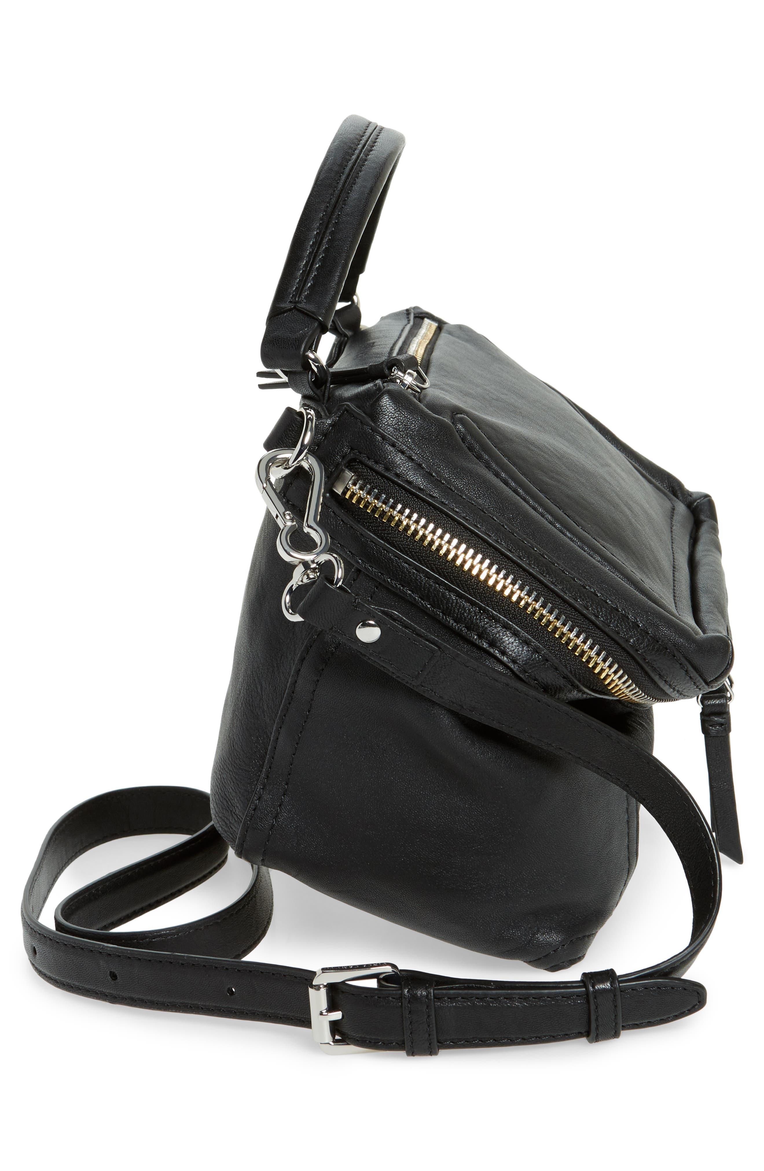 Medium Patch Leather Crossbody Bag,                             Alternate thumbnail 5, color,                             002