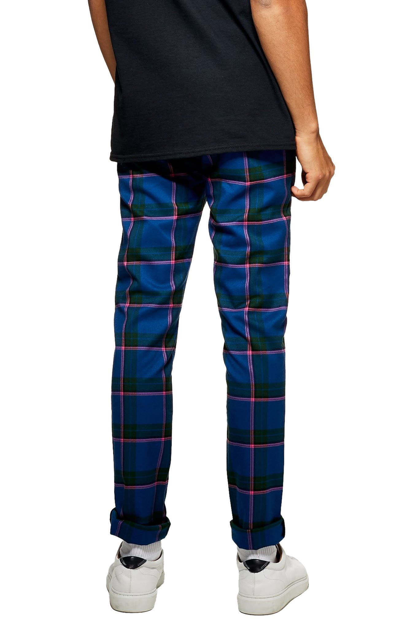 Mitchell Check Print Skinny Pants,                             Alternate thumbnail 2, color,                             400
