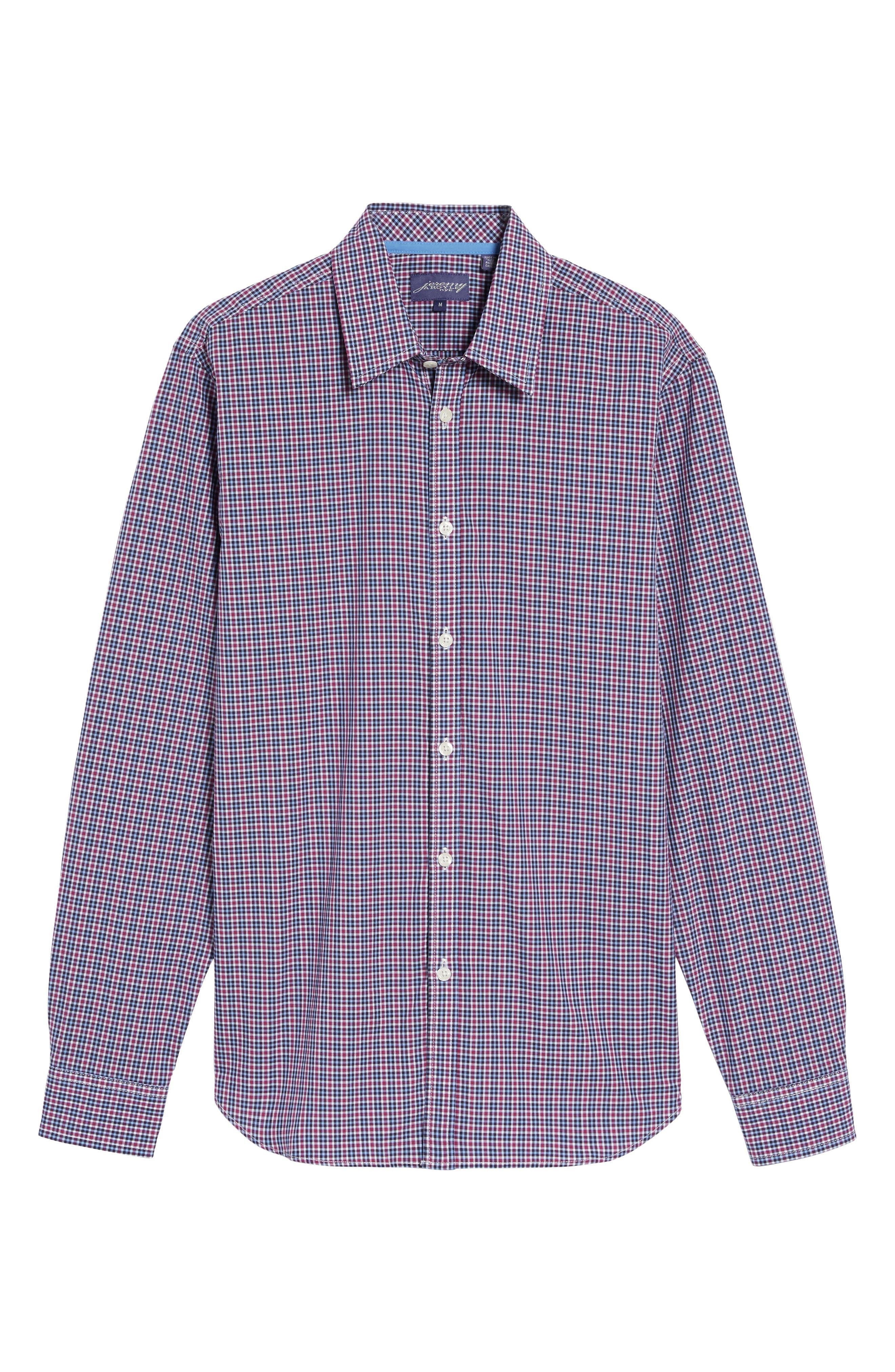 Comfort Fit Plaid Sport Shirt,                             Alternate thumbnail 6, color,                             514