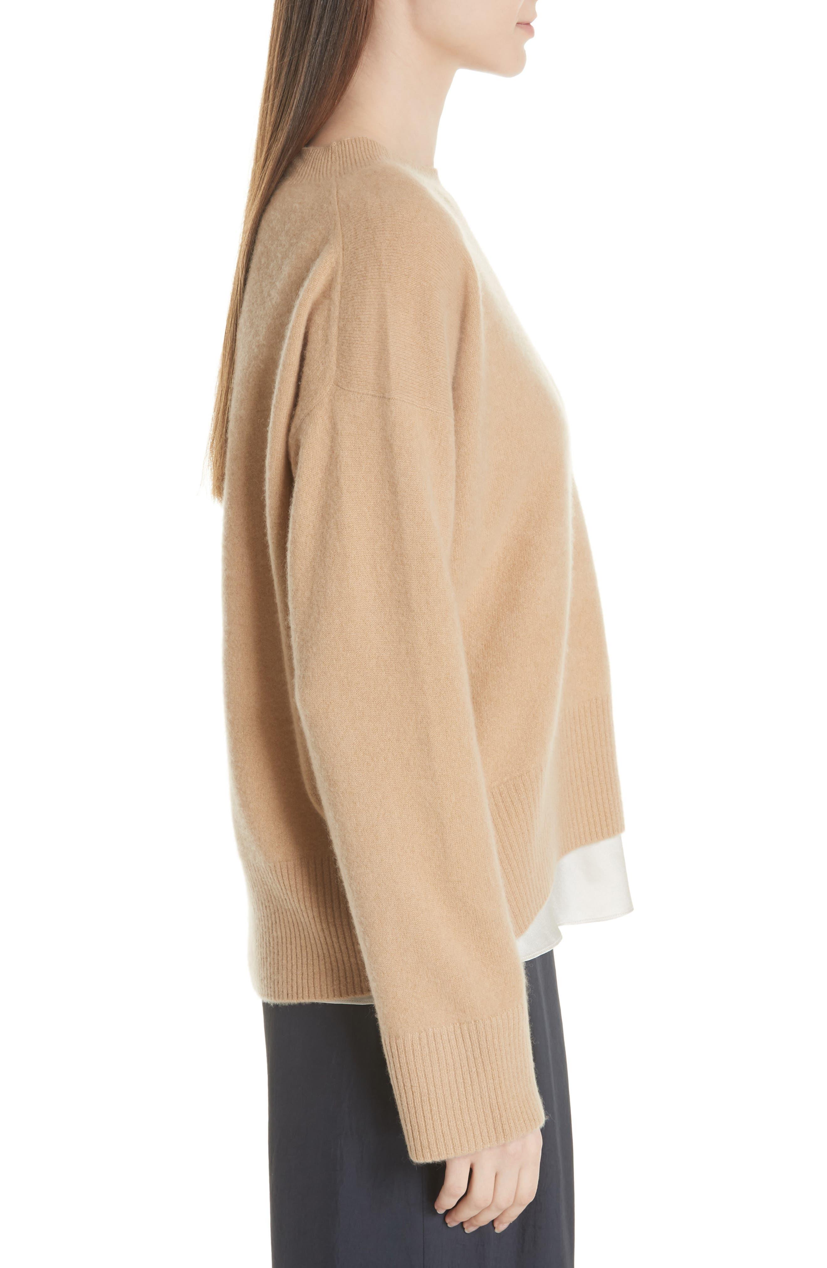 Cashmere Oversize Sweater,                             Alternate thumbnail 3, color,                             203