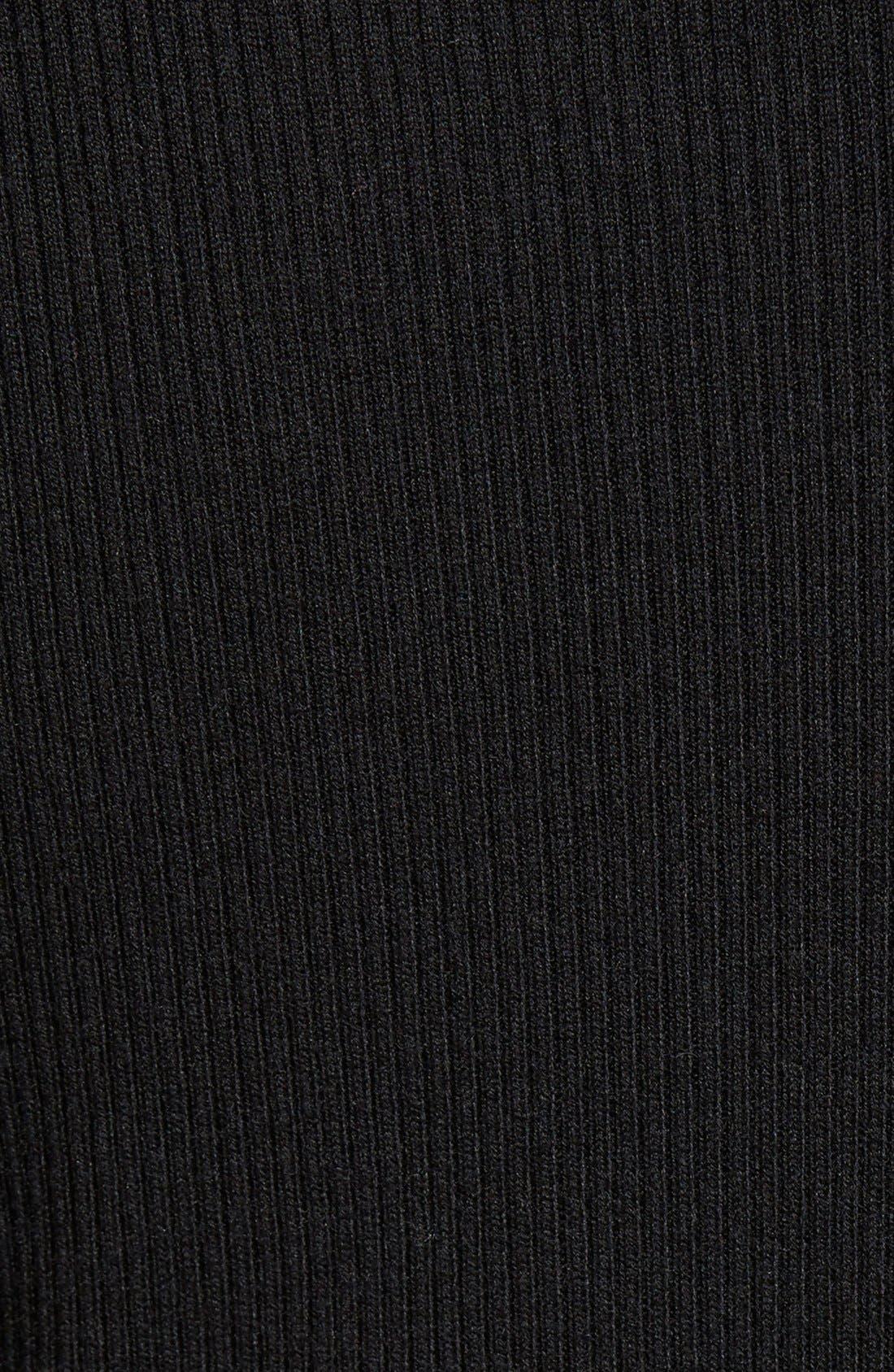 HALOGEN<SUP>®</SUP>,                             Long Sleeve Ribbed Turtleneck,                             Alternate thumbnail 3, color,                             001