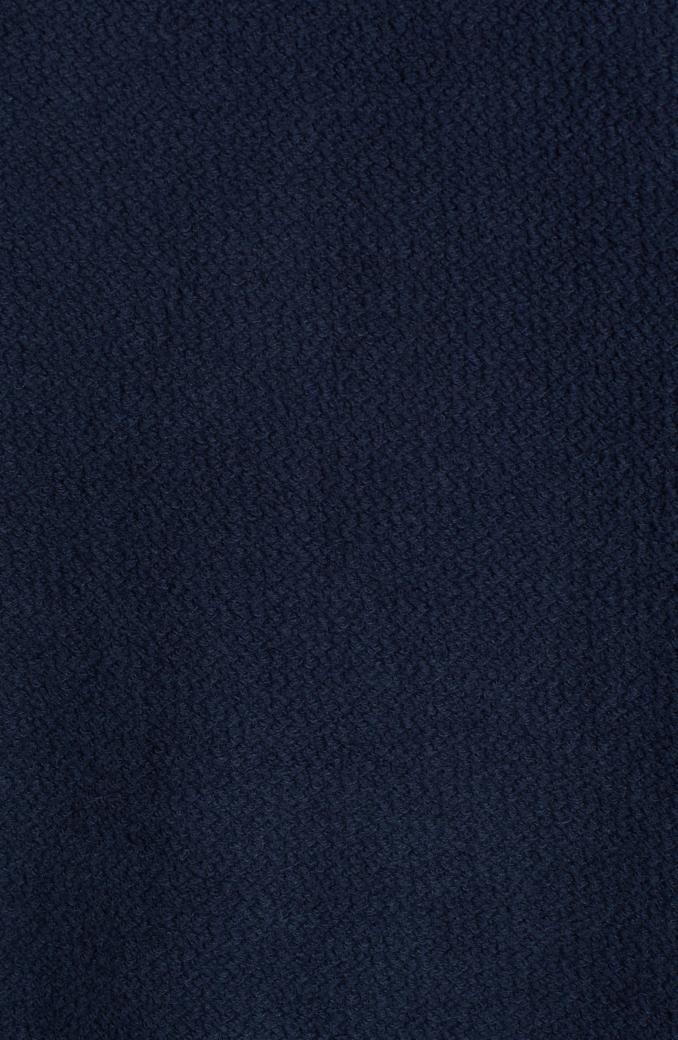 Cliff Cottage Fleece Pullover,                             Alternate thumbnail 5, color,                             TRUE NAVY