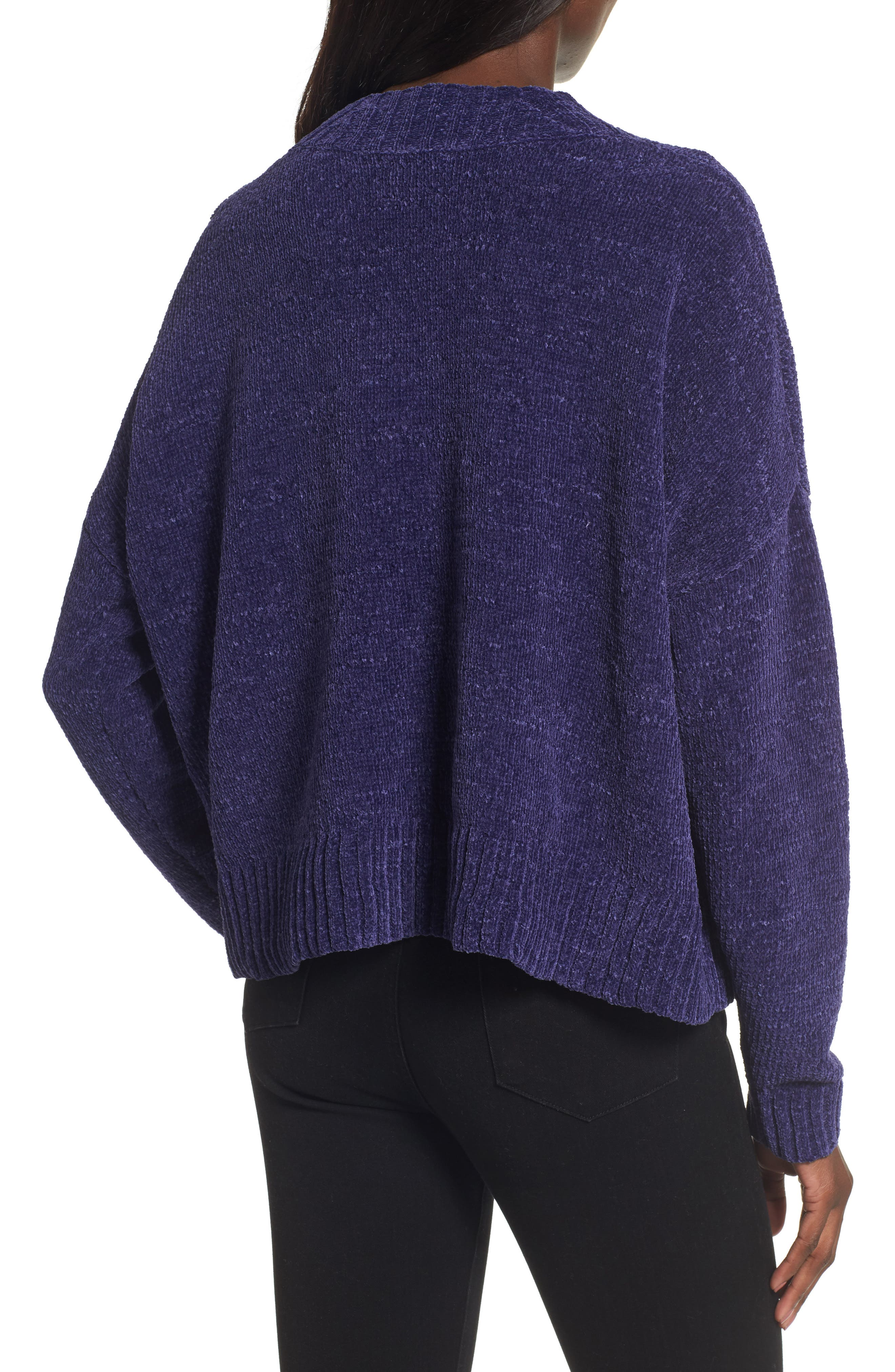 Chenille Funnel Neck Sweater,                             Alternate thumbnail 8, color,