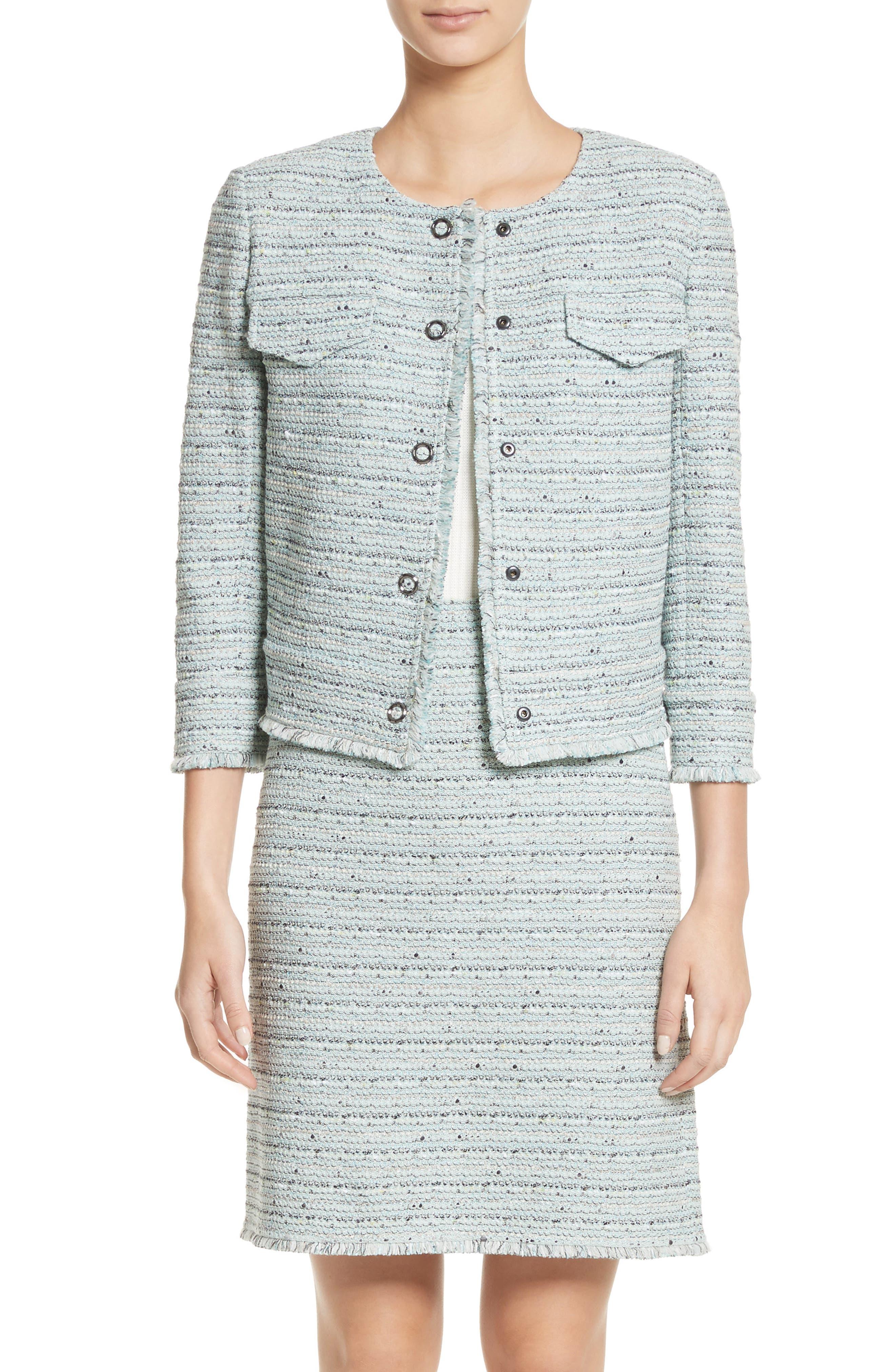 Riana Tweed Jacket,                             Main thumbnail 1, color,                             450