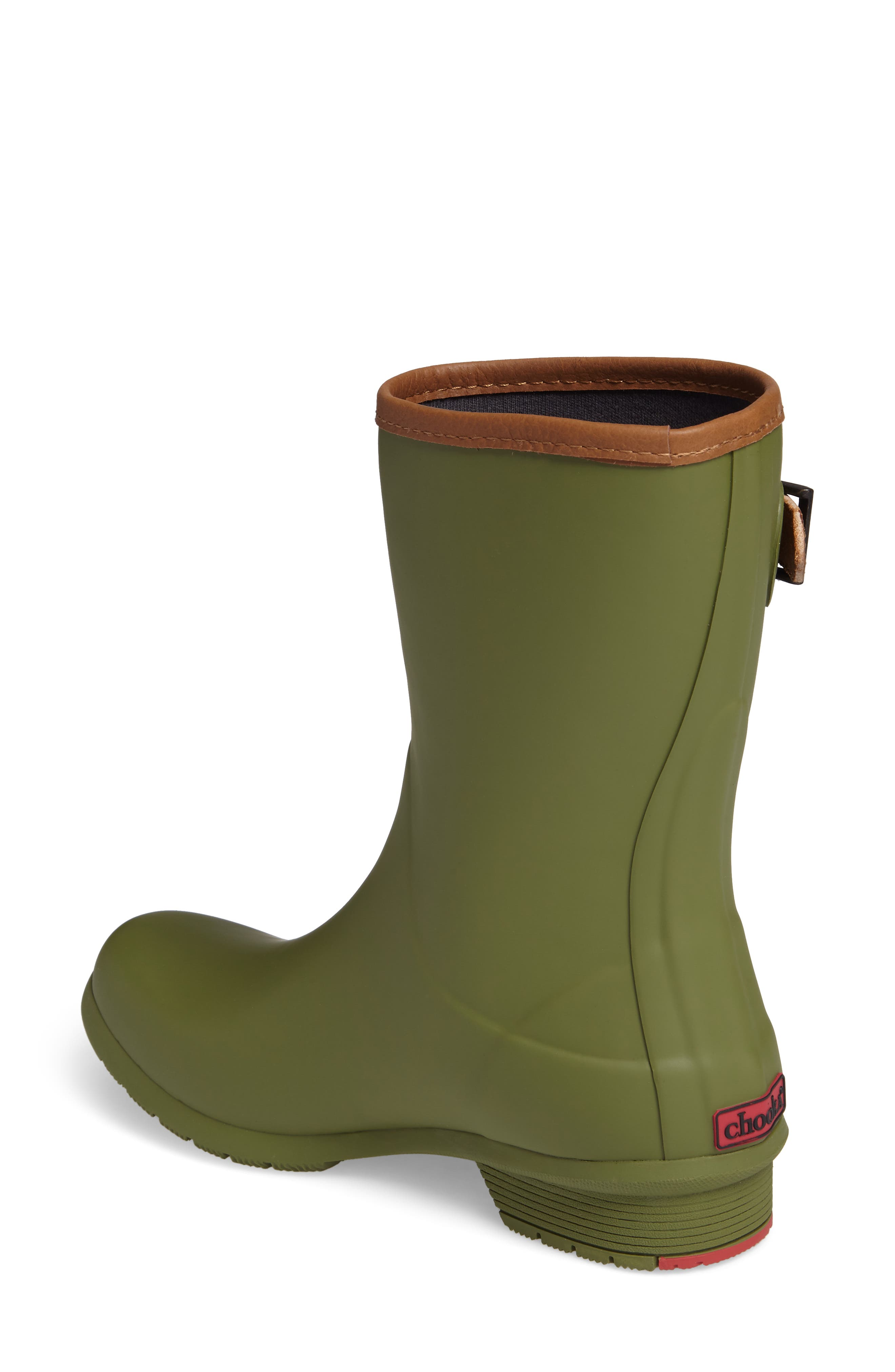 City Solid Mid Height Rain Boot,                             Alternate thumbnail 2, color,                             OLIVE
