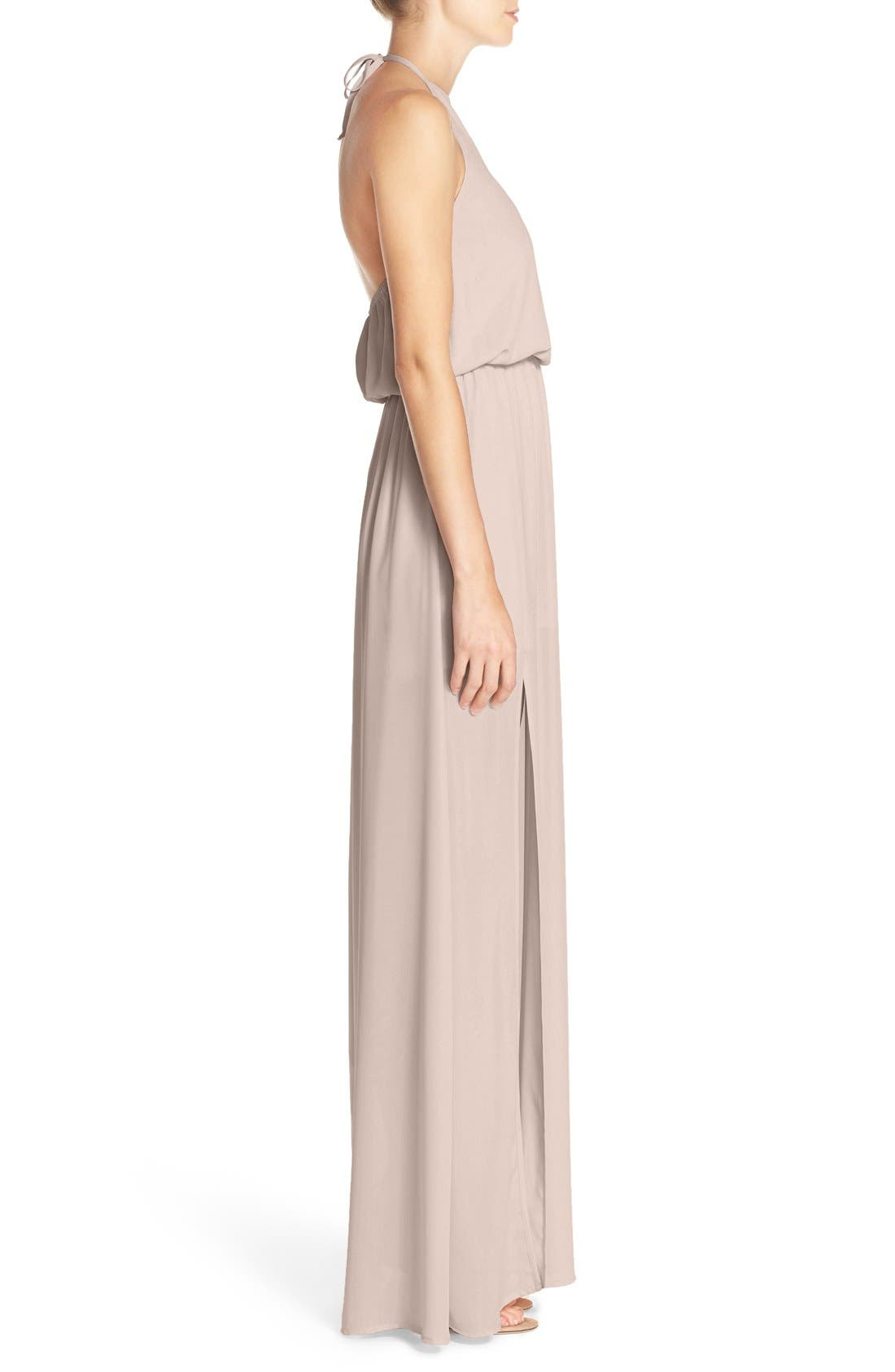 Heather Chiffon Halter Gown,                             Alternate thumbnail 46, color,