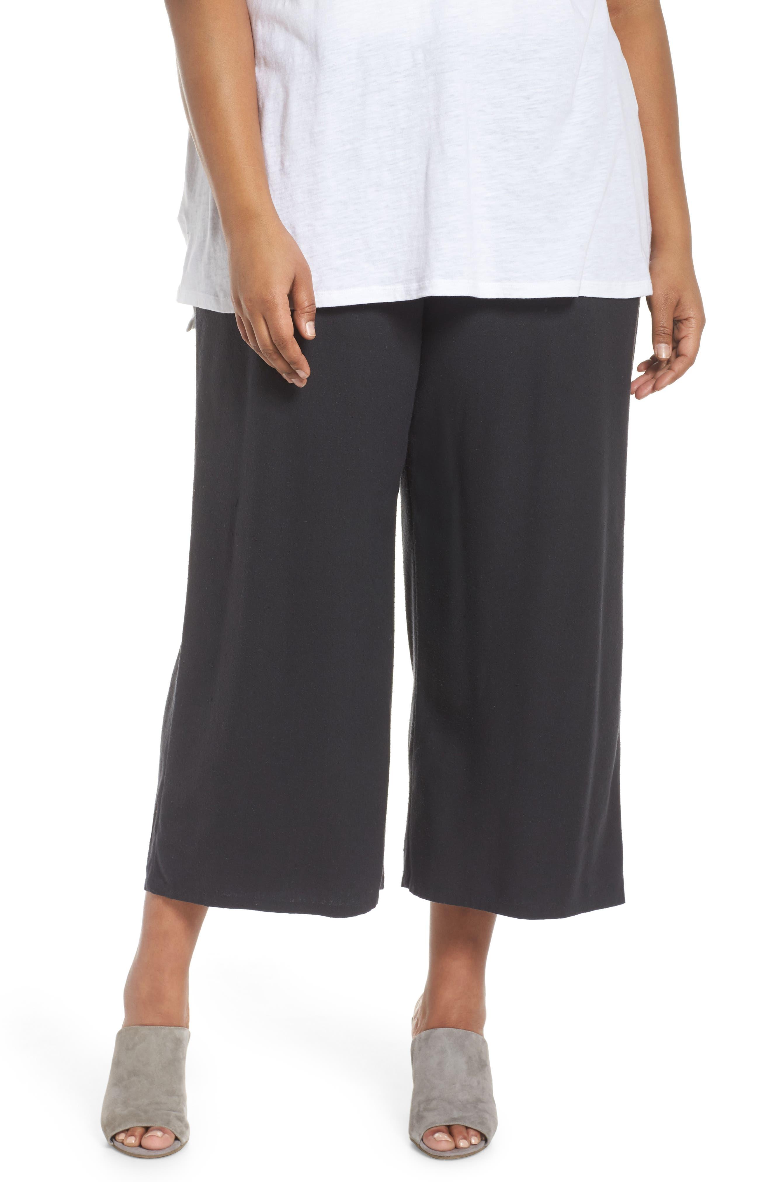 Silk Noil Wide Leg Pants,                         Main,                         color, 025