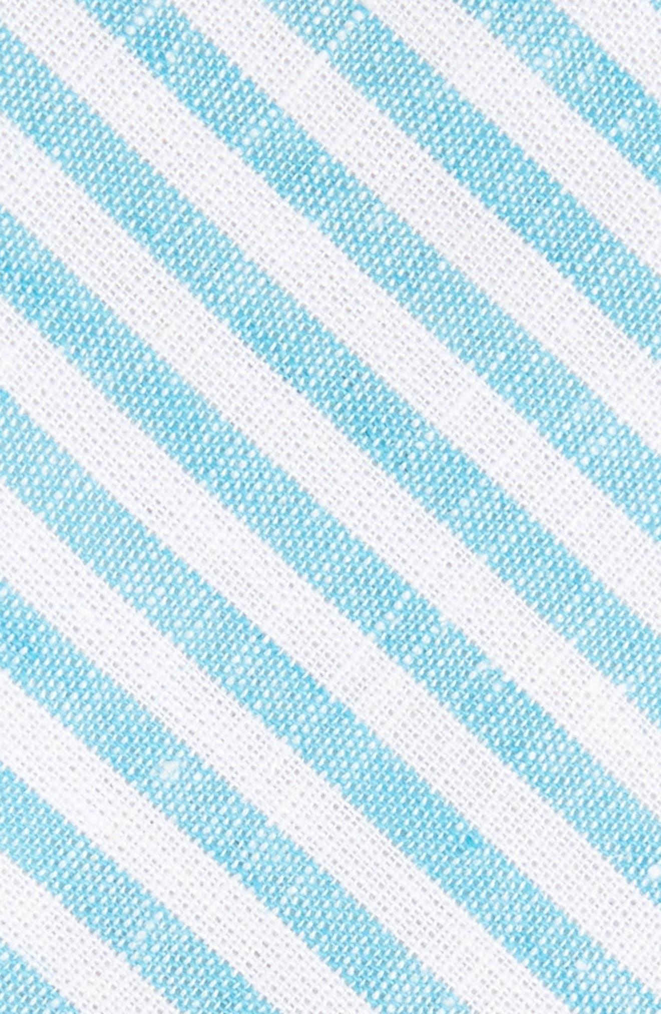 Stripe Cotton Tie,                             Alternate thumbnail 6, color,