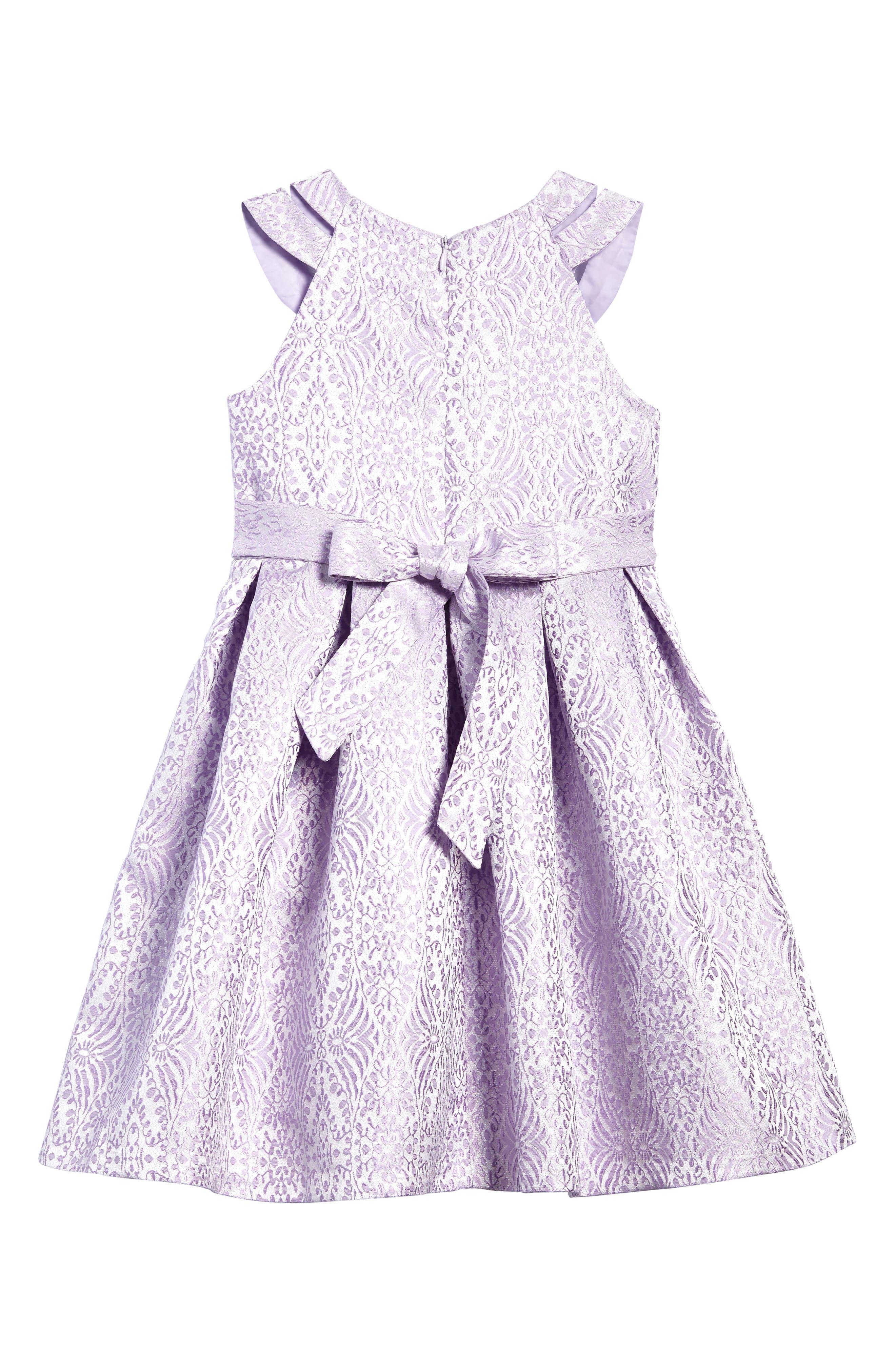 Jacquard Fit & Flare Dress,                             Alternate thumbnail 2, color,                             530