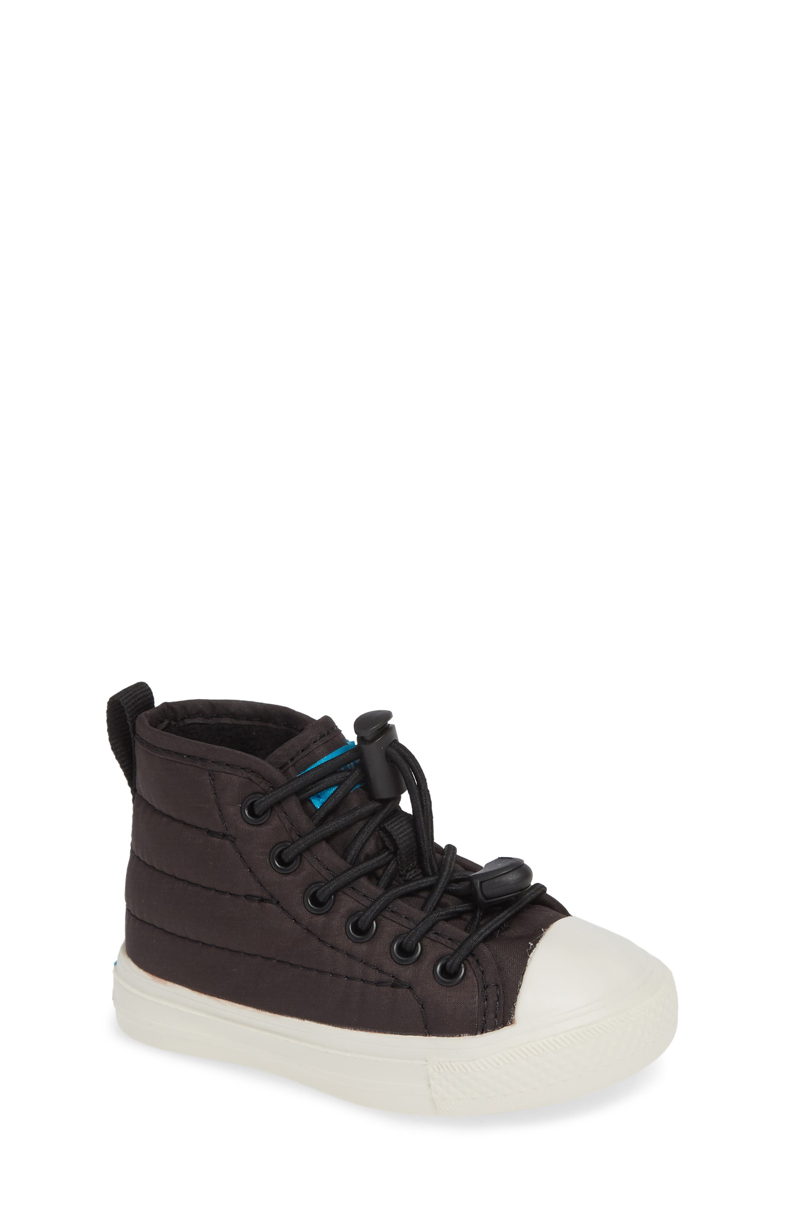 The Phillips Puffy Sneaker,                             Main thumbnail 1, color,                             REALLY BLACK/PICKET WHITE