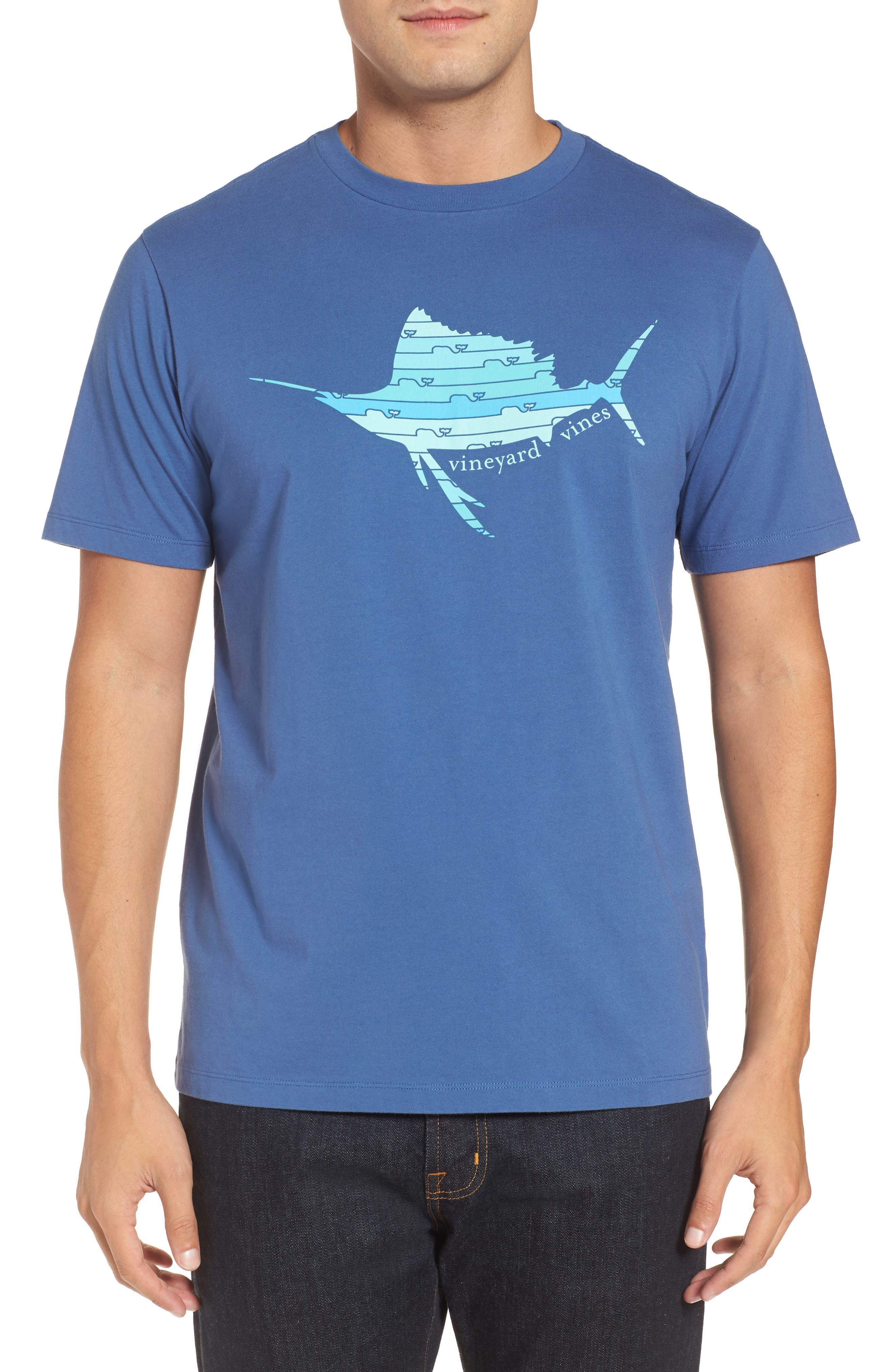 Sailfish Whale Line Graphic T-Shirt,                             Main thumbnail 1, color,                             461