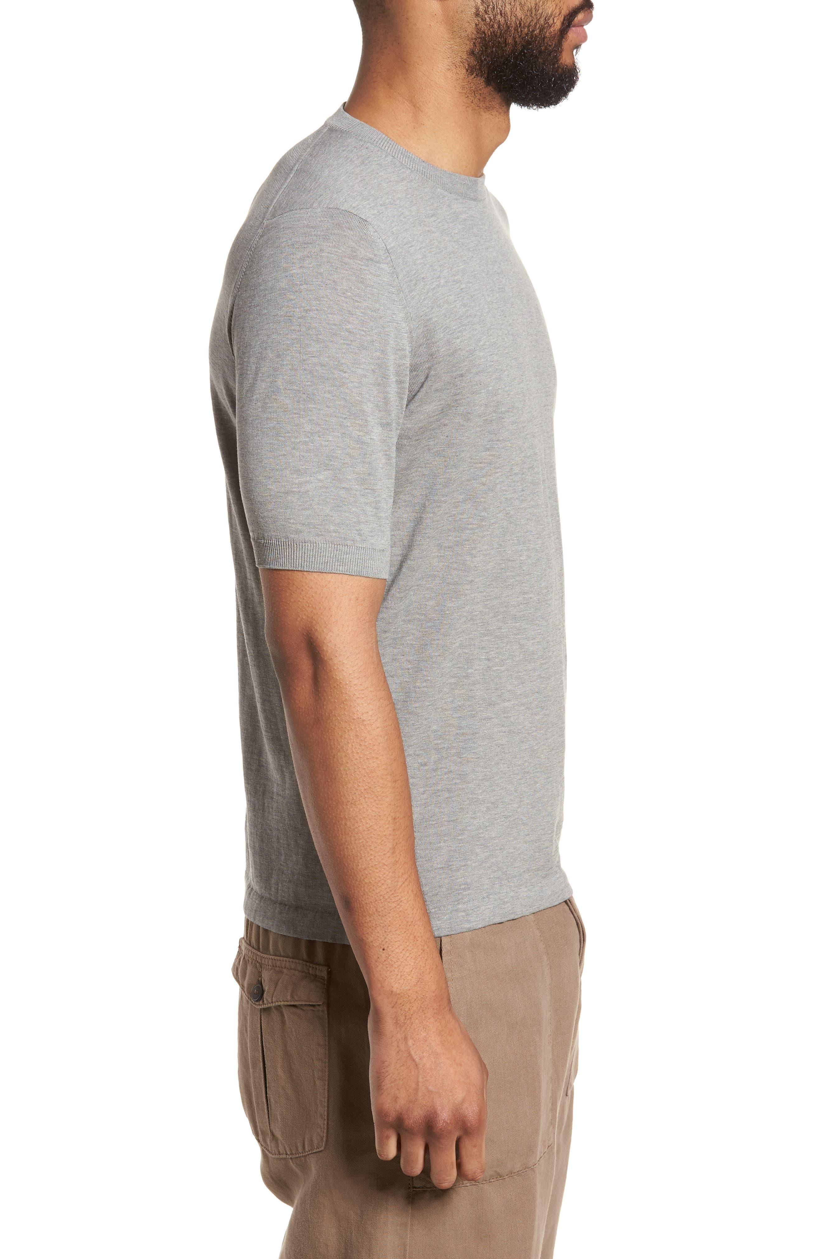 Fresco Crewneck Cotton T-Shirt,                             Alternate thumbnail 3, color,                             021