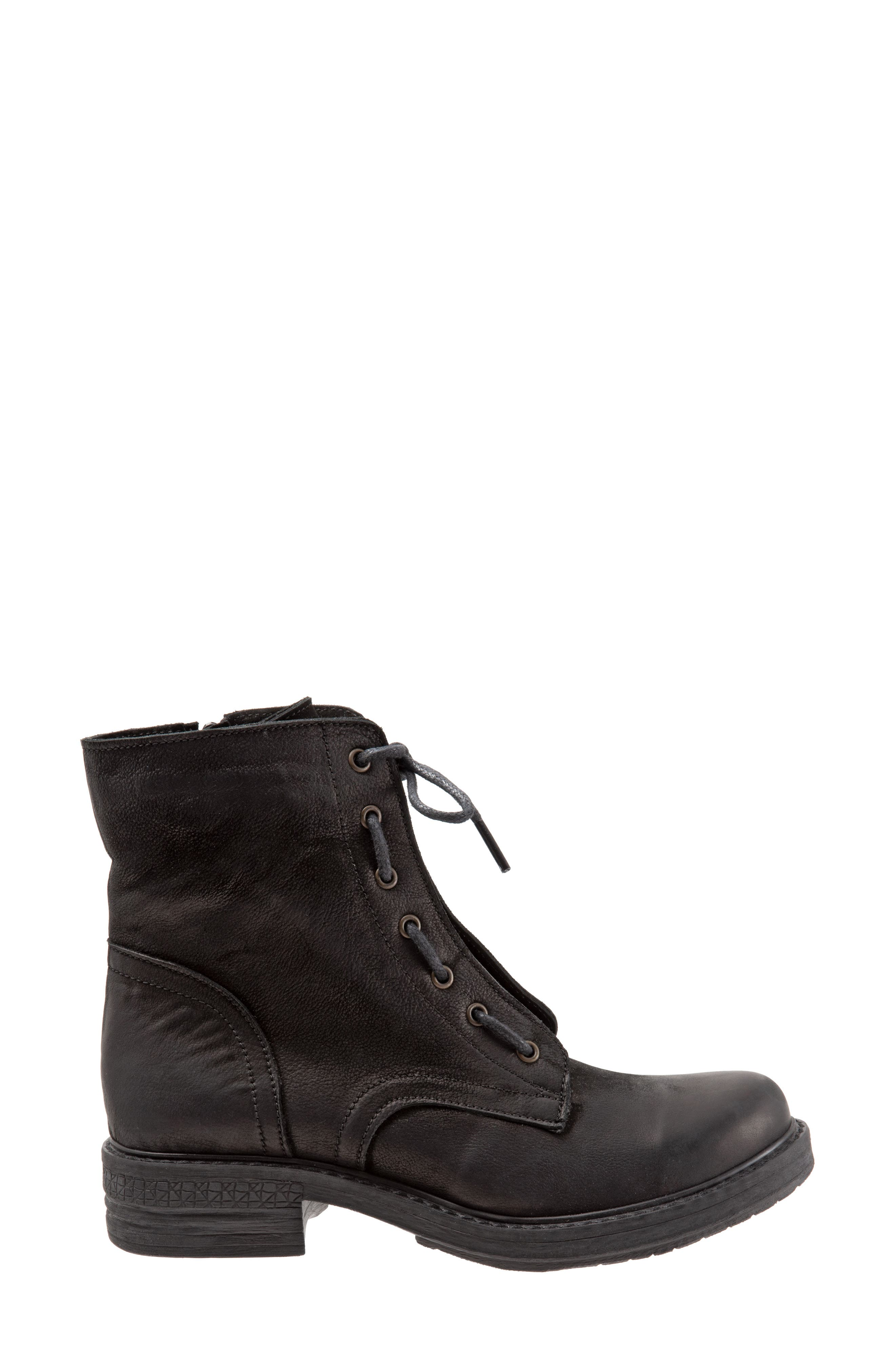 Getty Military Boot,                             Alternate thumbnail 3, color,                             BLACK NATURAL LEATHER