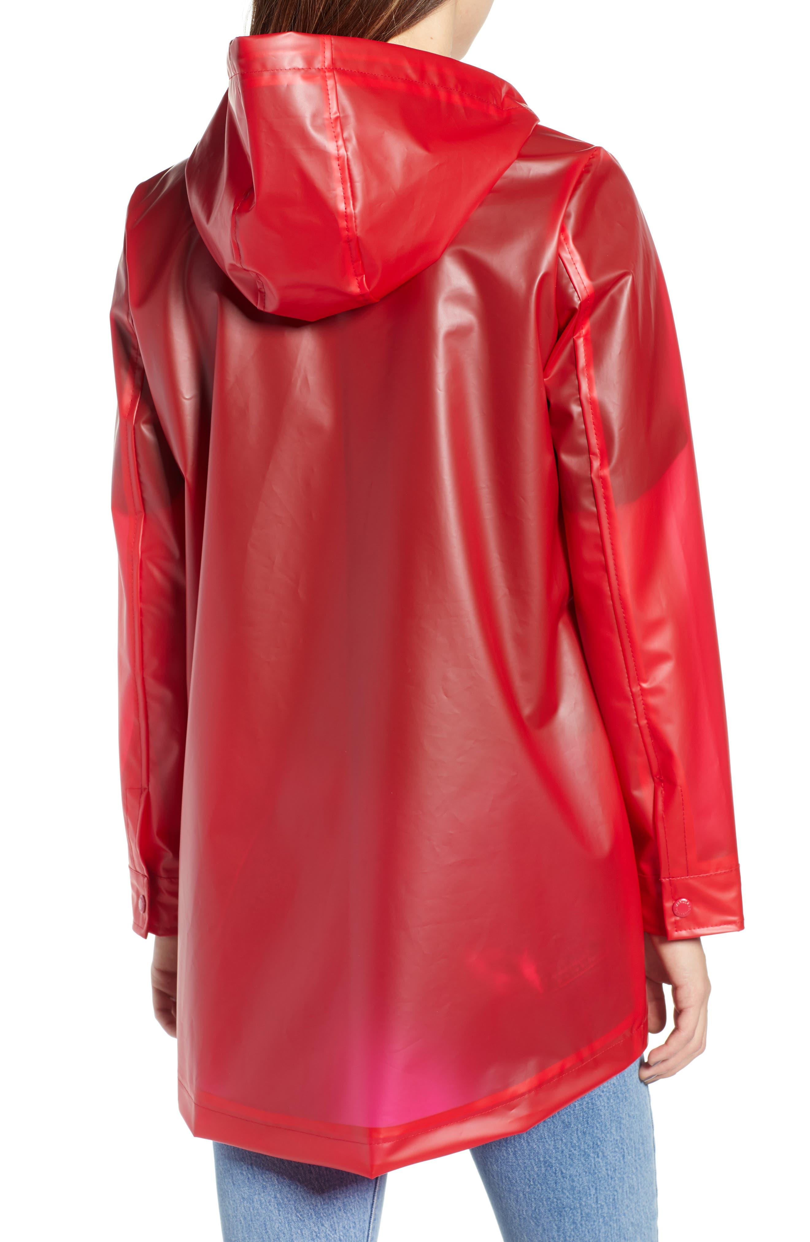 Translucent Rain Jacket,                             Alternate thumbnail 2, color,                             RED LYCHEE