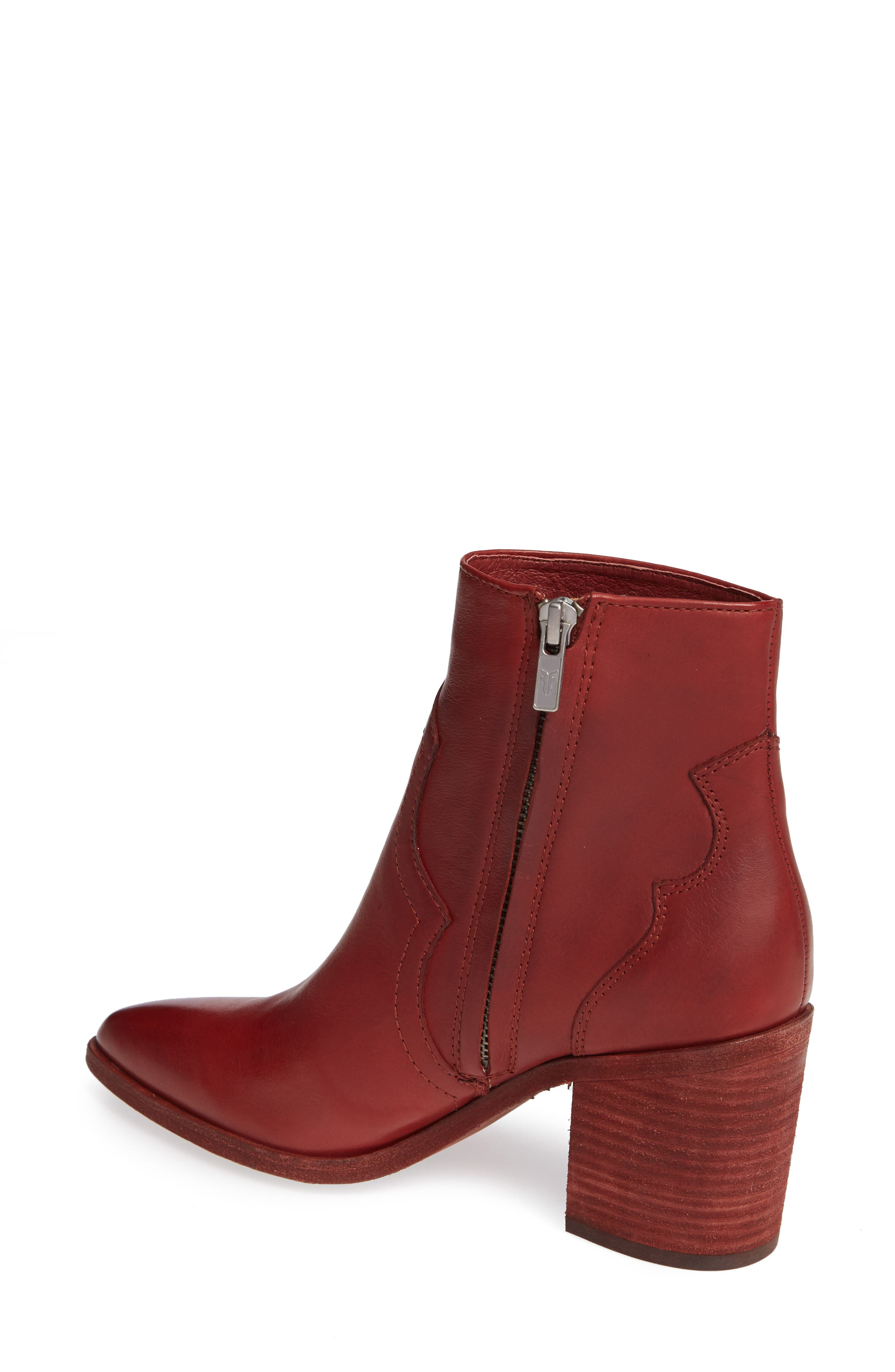 Flynn Bootie,                             Alternate thumbnail 2, color,                             RED CLAY LEATHER