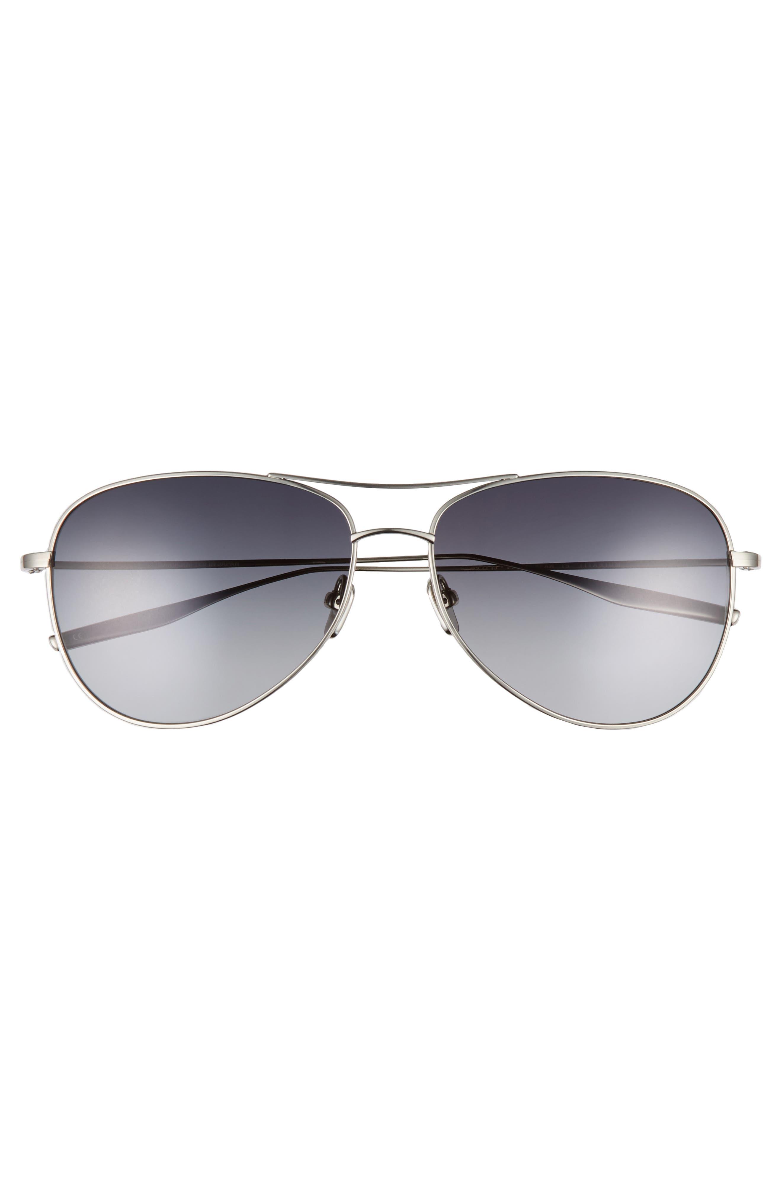 McKean 59mm Aviator Sunglasses,                             Alternate thumbnail 2, color,                             TRADITIONAL SILVER