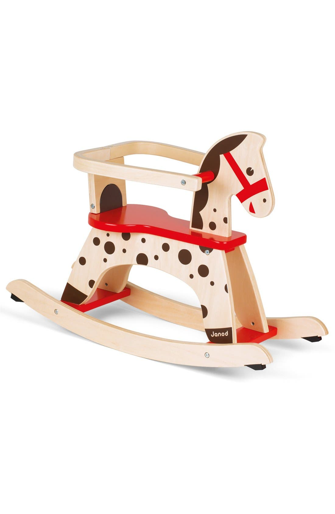 'Caramel' Wood Rocking Horse,                             Alternate thumbnail 2, color,                             RED
