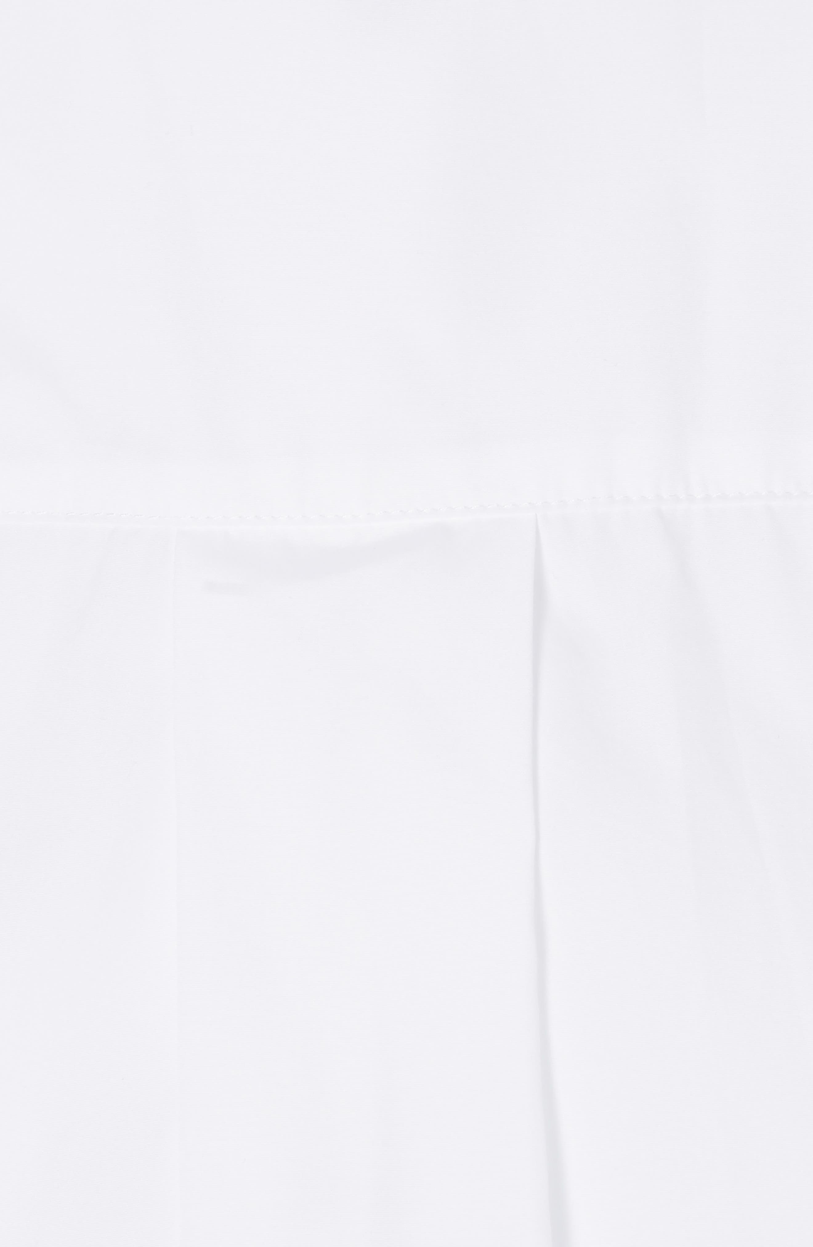 Popper Sleeve Boxy Shirt,                             Alternate thumbnail 3, color,                             100