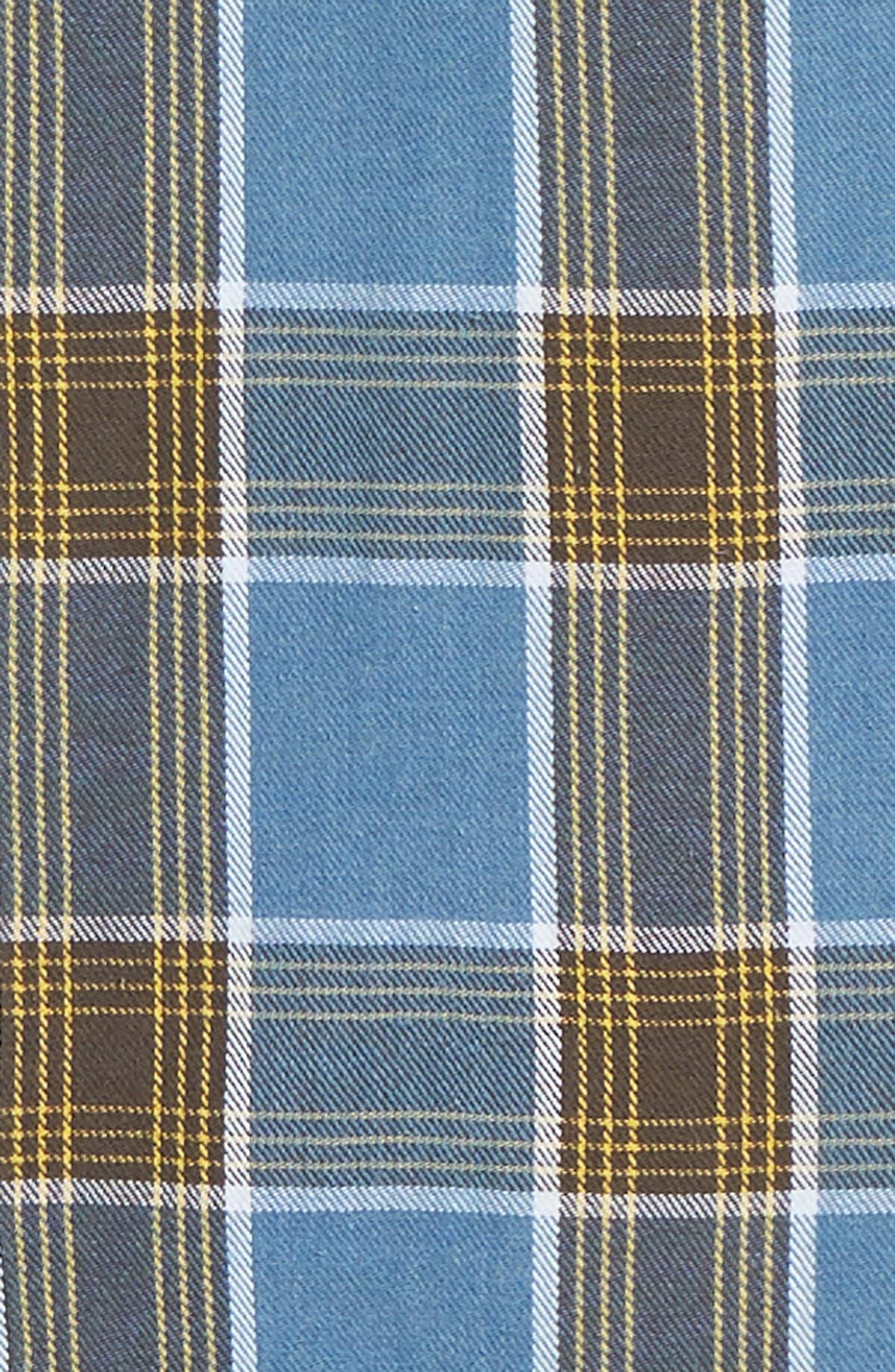 Plaid Flannel Shirt,                             Alternate thumbnail 6, color,                             450