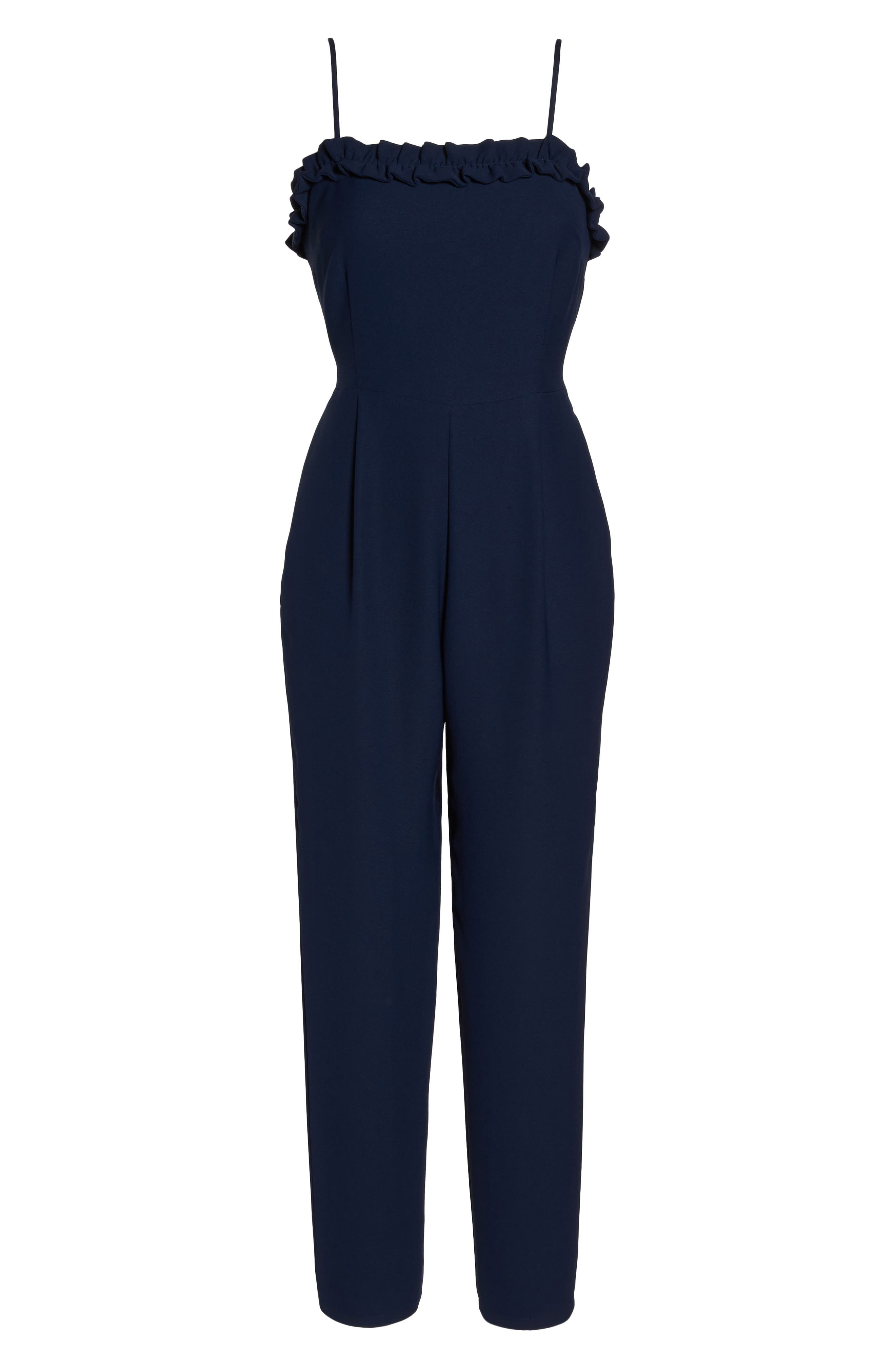 Ruffle Jumpsuit,                             Alternate thumbnail 6, color,                             410